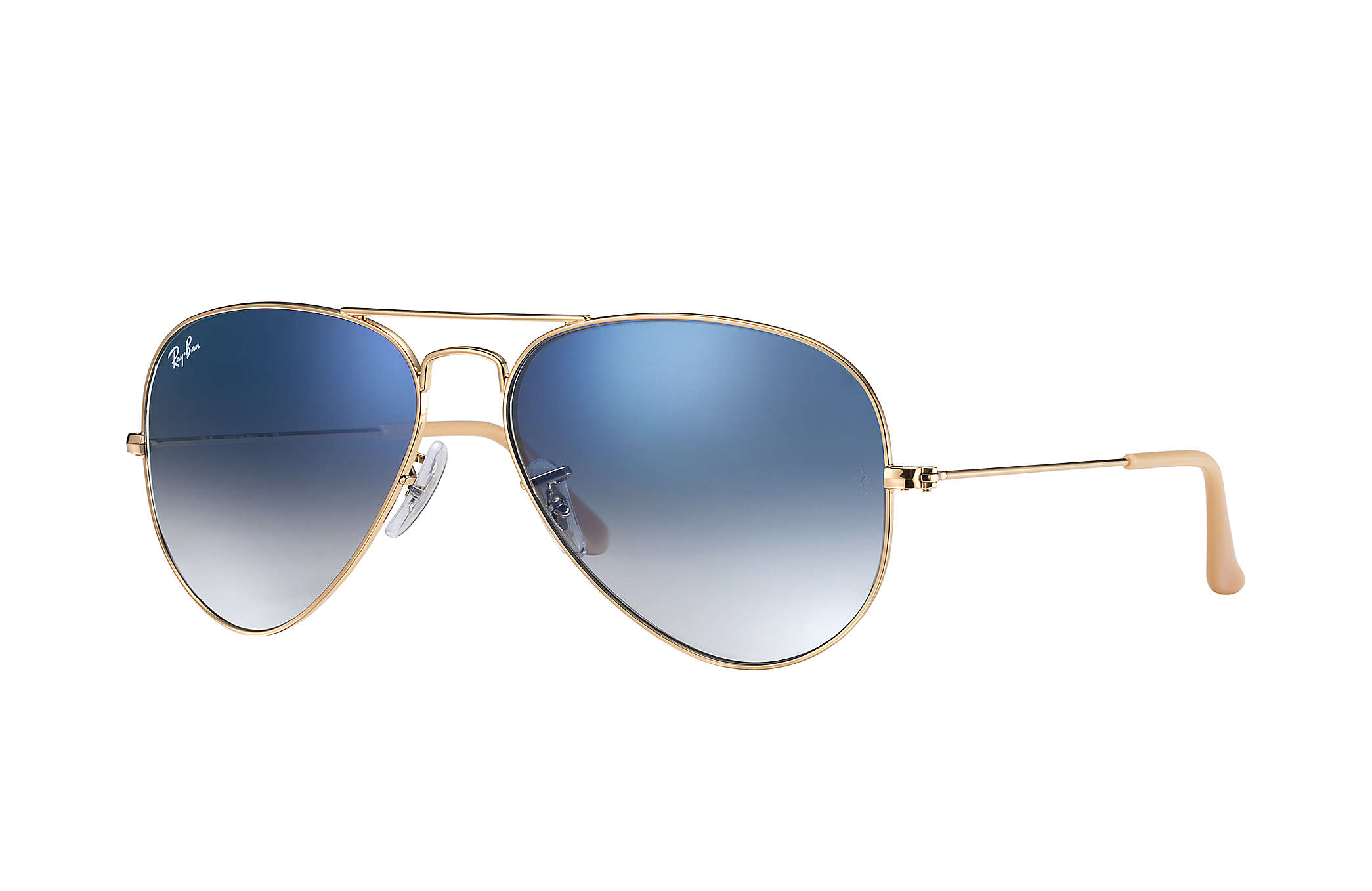 22f8cb75d41db Details about New Ray Ban RB3025-001 3F-62 Gold   Blue Gradient 62mm  Sunglasses