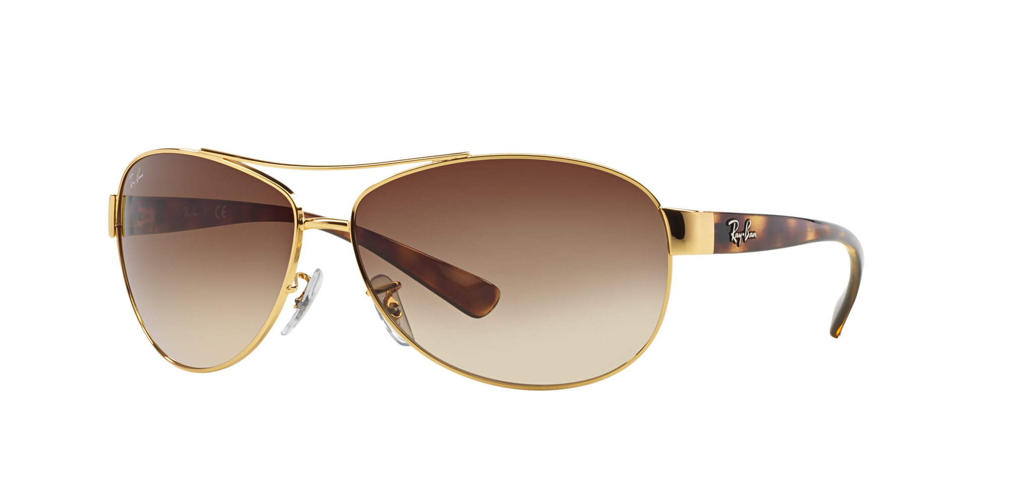 592c8b2b04 Details about New Ray Ban RB3386-001 13-67 Gold Havana   Brown Gradient  67mm Sunglasses