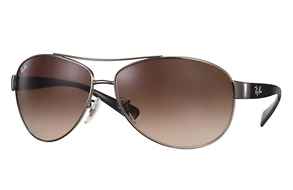 0e1599764fd Details about New Ray Ban RB3386-004 13-63 Gunmetal   Brown Gradient 63mm  Sunglasses