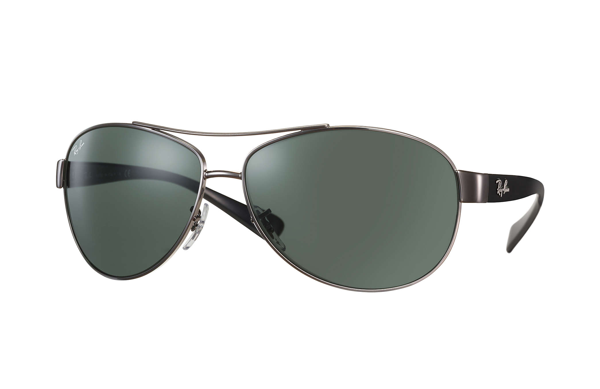 34c07c5d63ae8 Details about New Ray Ban RB3386-004 71-67 Gunmetal   Green 67mm Sunglasses