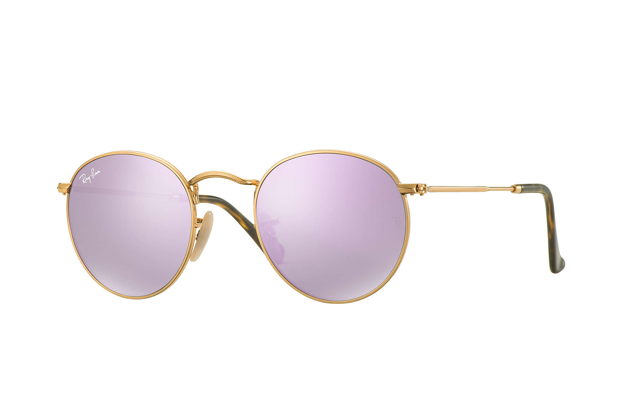942b27e3716 Details about New Ray Ban RB3447N-001 80-50 Shiny Gold   Wisteria Flash  50mm Sunglasses