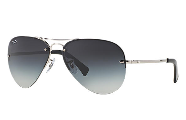 73e9ac92660 Details about New Ray Ban RB3449-003 8G-59 Silver   Grey Gradient 59mm  Sunglasses