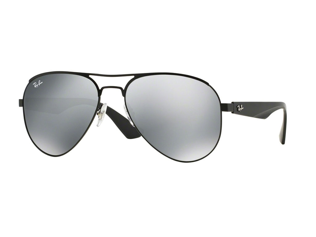 3c0b95d67e New Ray Ban RB3523-006 6G-59 Black   Silver 59mm Sunglasses ...