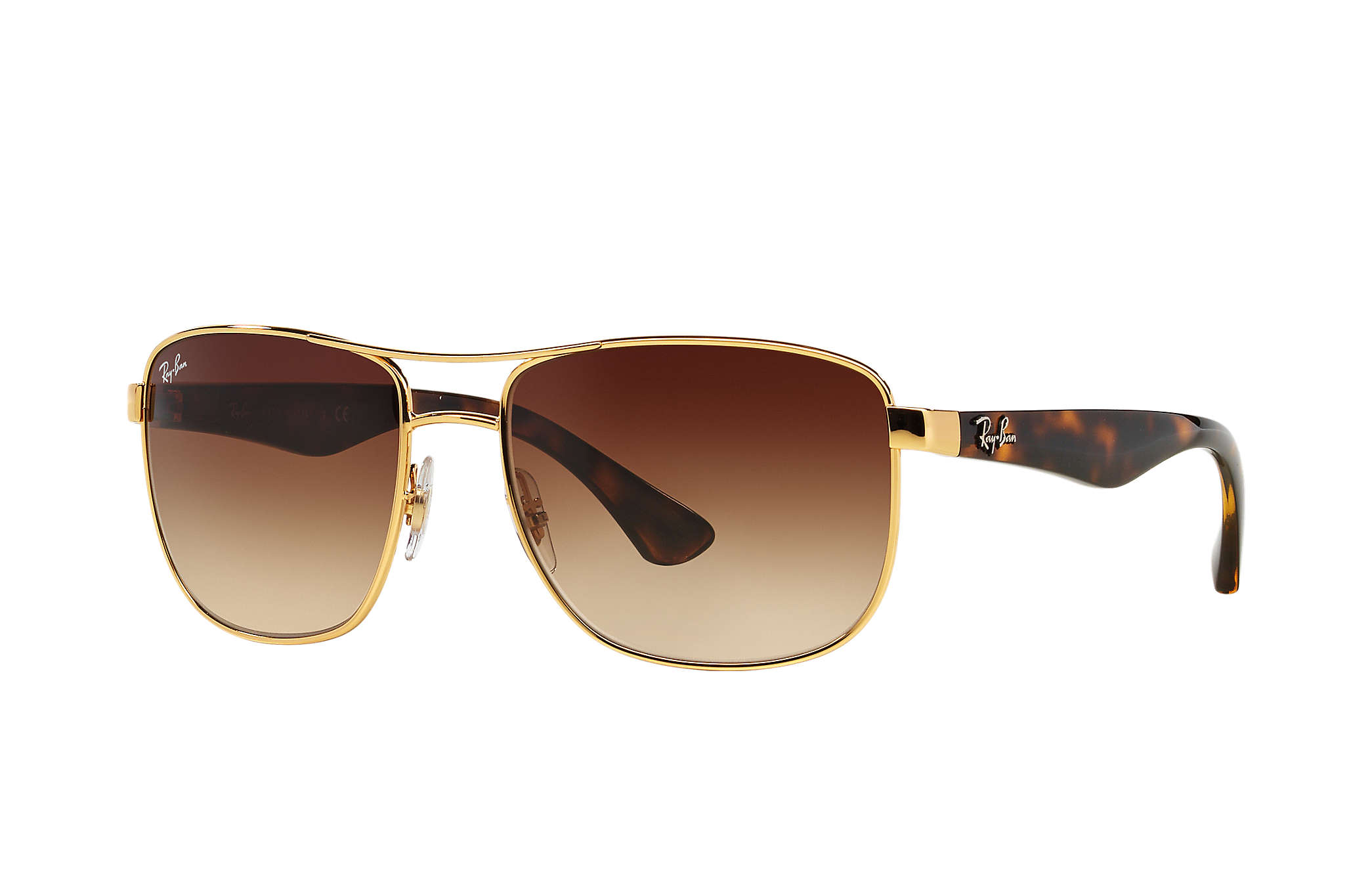 0052ee512f9 Details about New Ray Ban RB3533-001 13-5717 Tortoise   Brown Gradient 57mm  Sunglasses