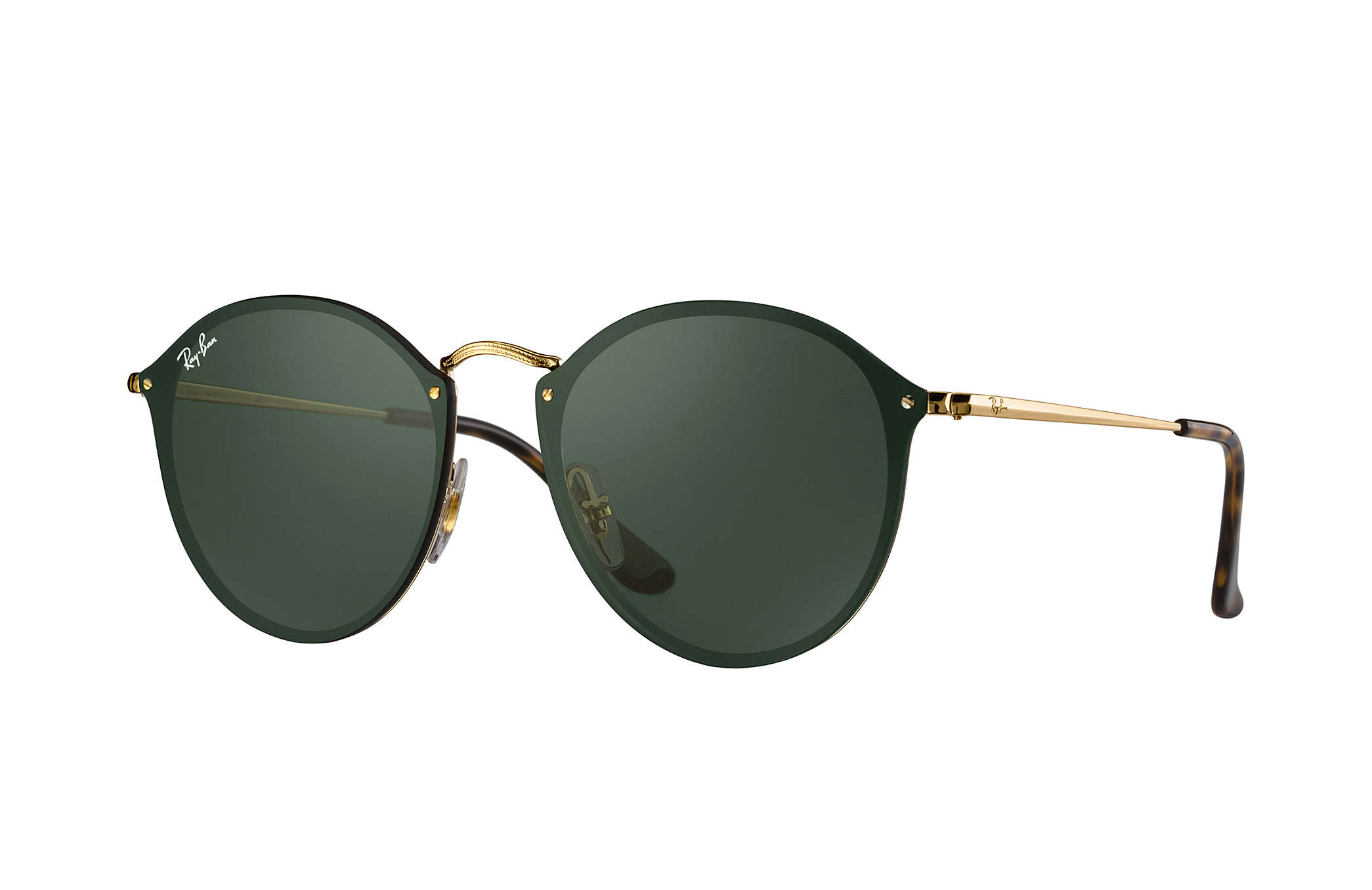 0e82ffa68b1fd Details about New Ray Ban RB3574N-001 71-59 Gold   Green Classic 59mm  Sunglasses