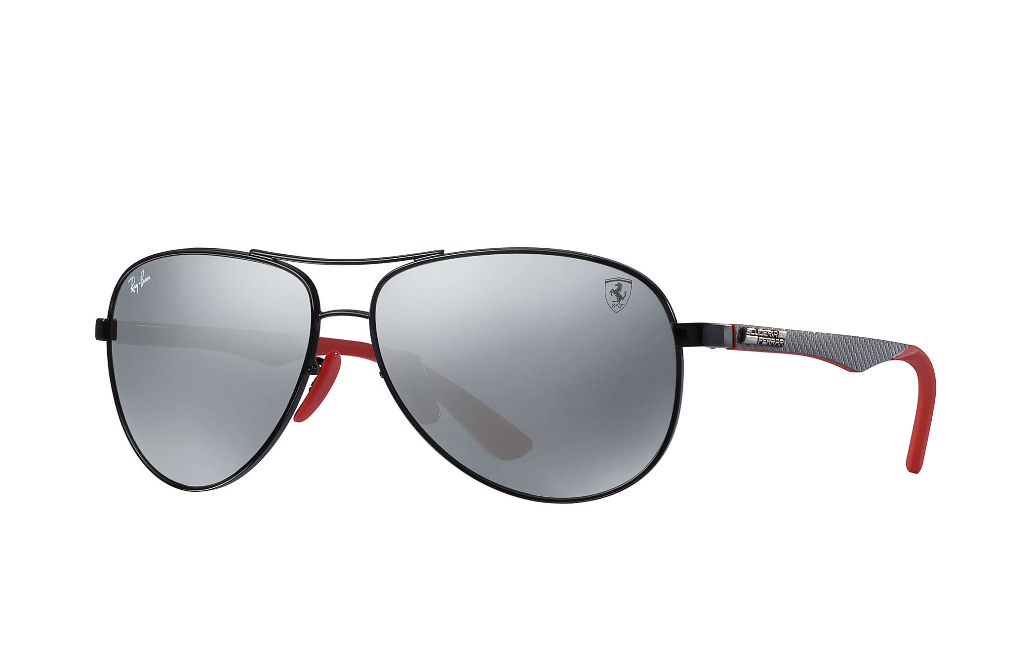 47b2ae108b0813 Details about New Ray Ban RB8313M-F0096G-61 Black Grey   Silver Mirror 61mm  Sunglasses