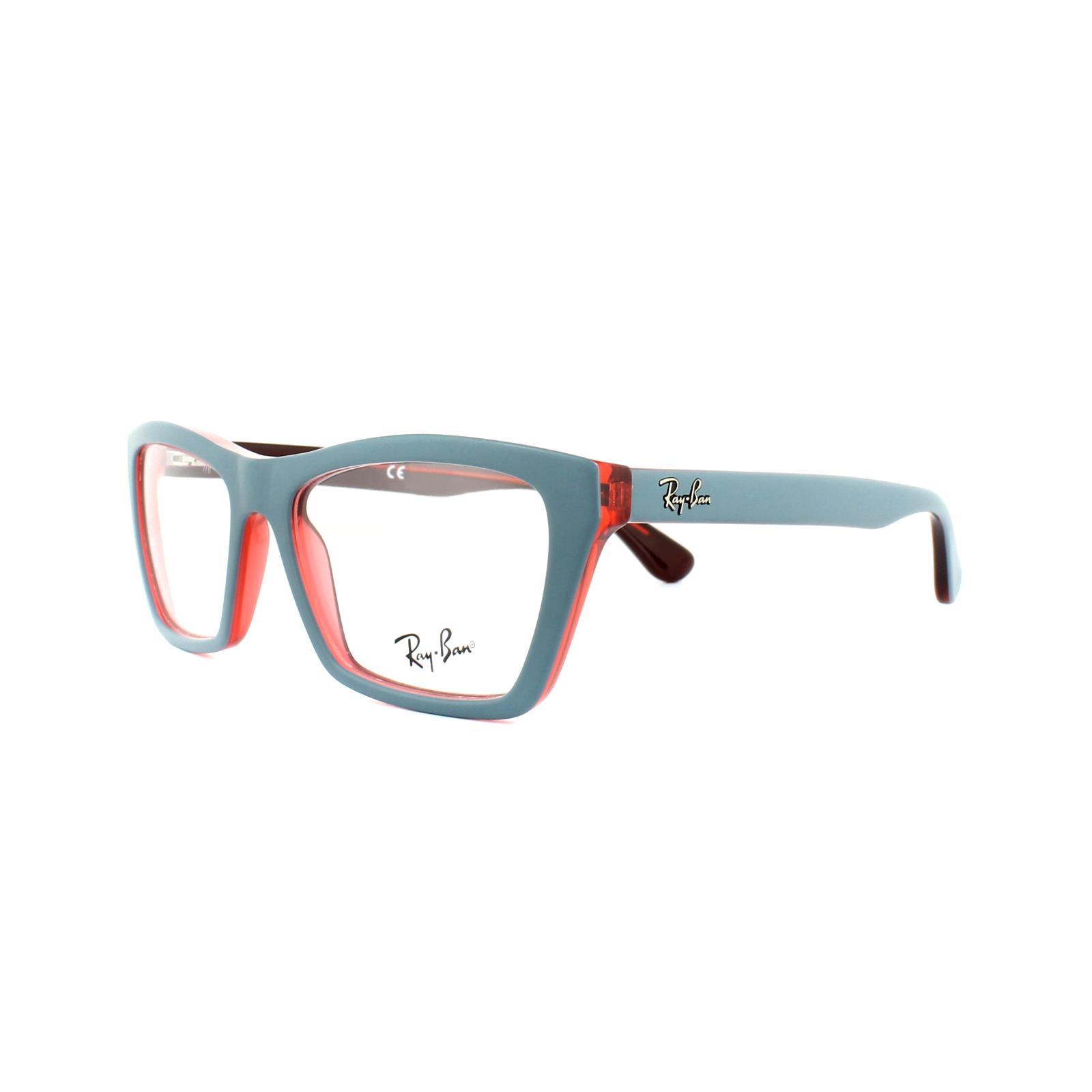 6f71af502e Details about NEW Ray-Ban RX5316-5388-53 Matte Olive Blue Eyeglasses