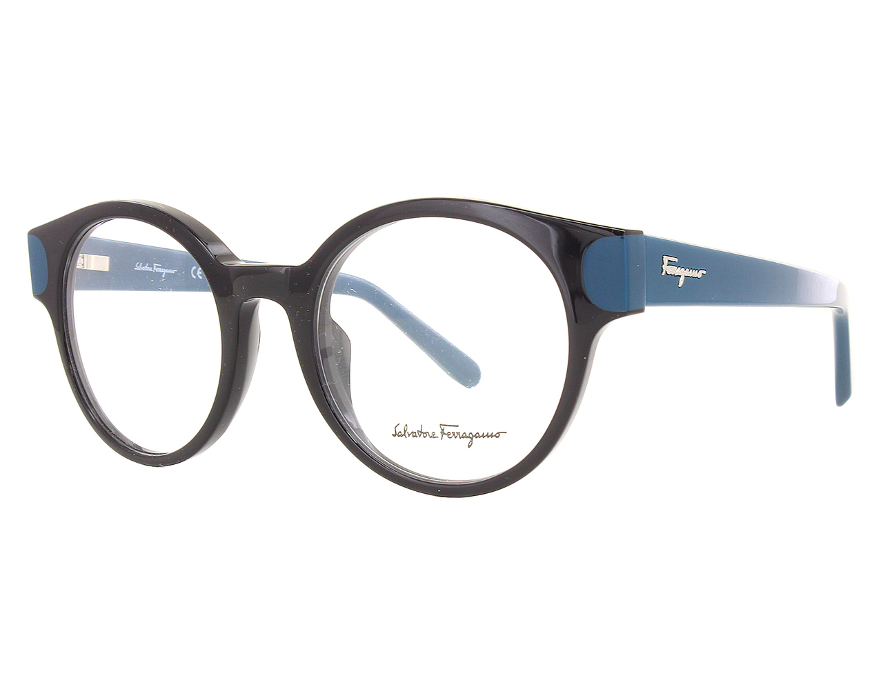56bd1d092f Details about NEW Salvatore Ferragamo SF2757-973-5020 Black Petrol 50mm  Eyeglasses
