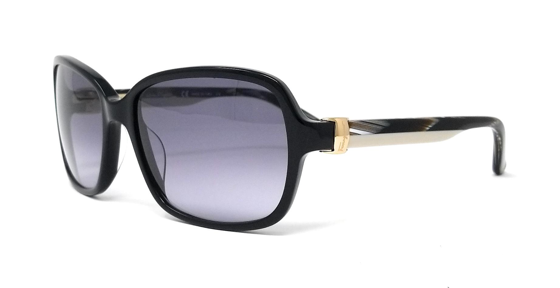 836889ecb4 NEW Salvatore Ferragamo SF606S 001 Black Sunglasses 883121865518