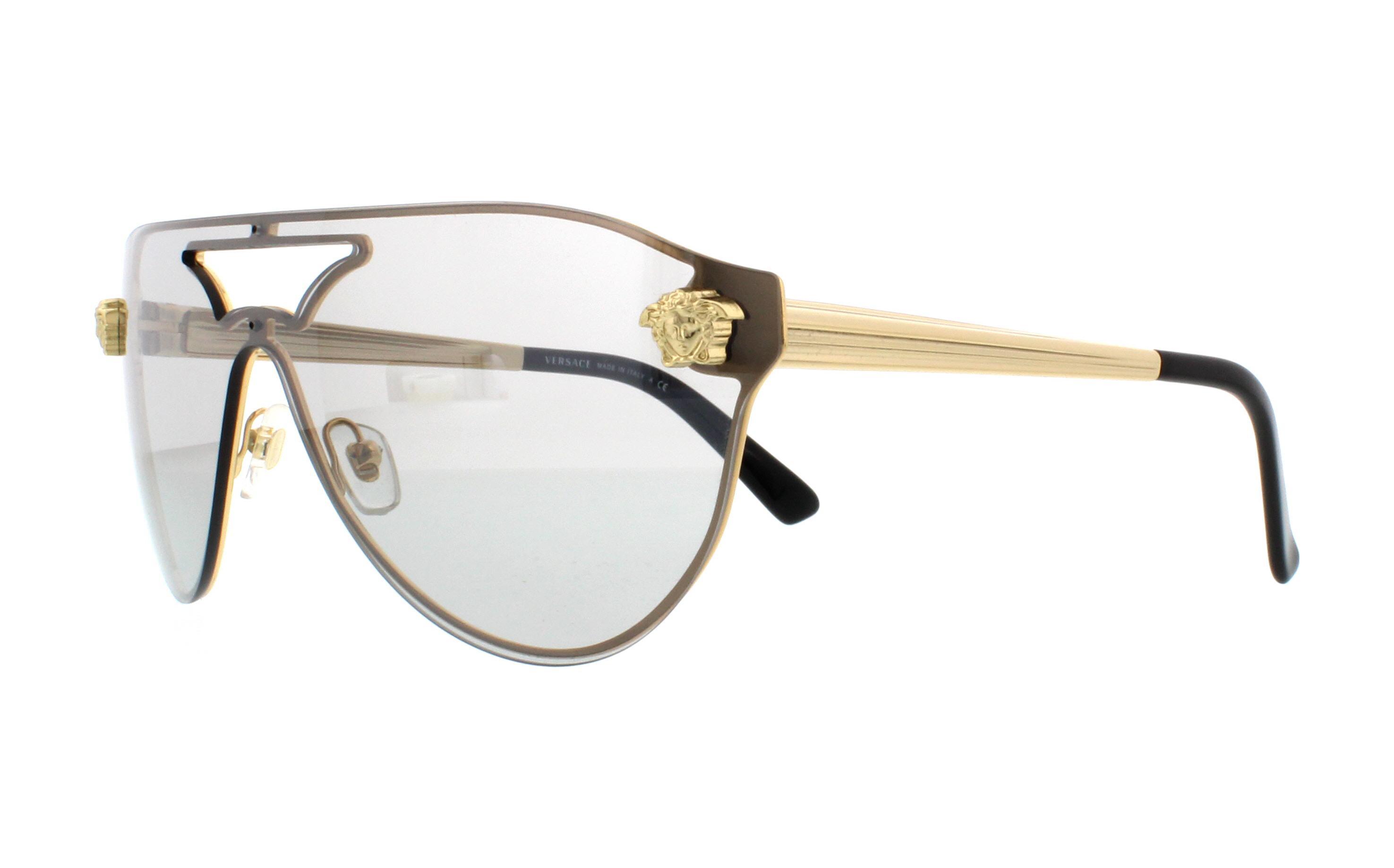 200ad70d54 NEW Versace VE2161-1002 6G-42 Gold Sunglasses 8053672415001