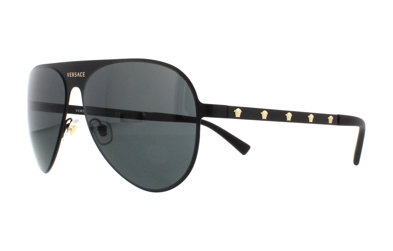 1901141dee9 NEW Versace VE2189-1425 87-59 Matte Black Sunglasses 8053672851298 ...