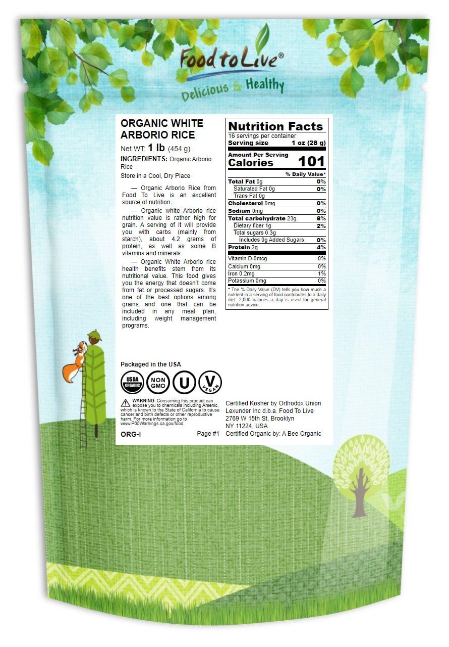 RISO-biologico-Bianco-Arborio-Non-GMO-Kosher-BULK-da-parte-del-cibo-a-vivere miniatura 3