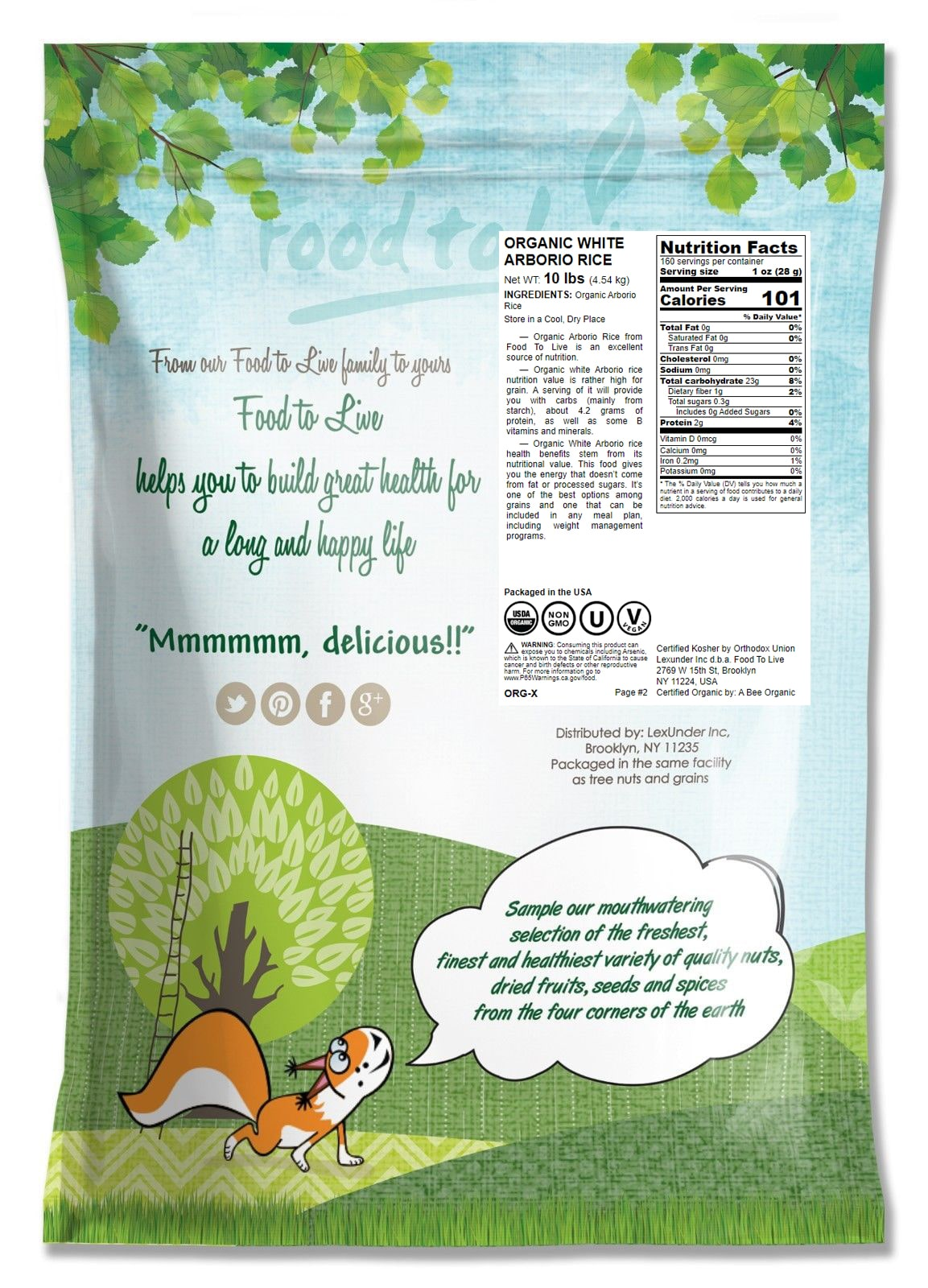 RISO-biologico-Bianco-Arborio-Non-GMO-Kosher-BULK-da-parte-del-cibo-a-vivere miniatura 11