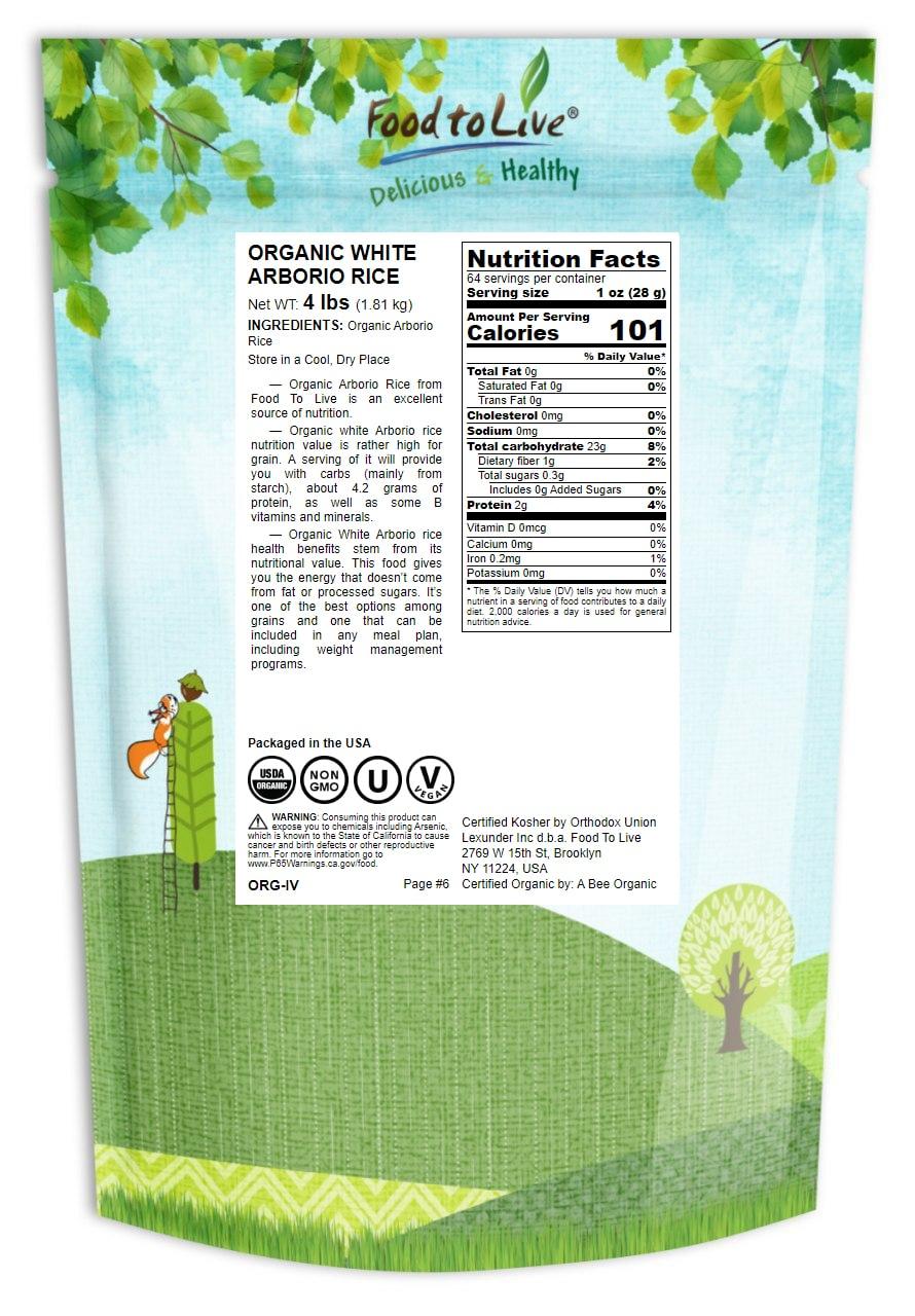 RISO-biologico-Bianco-Arborio-Non-GMO-Kosher-BULK-da-parte-del-cibo-a-vivere miniatura 42