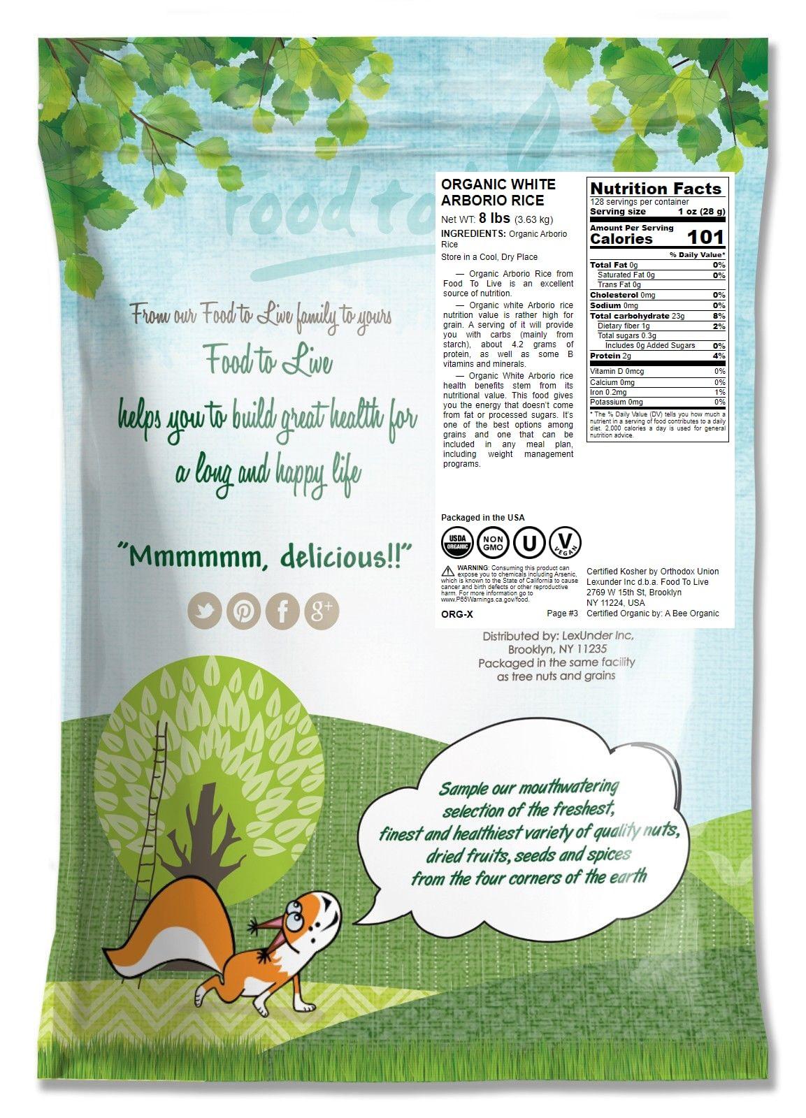 RISO-biologico-Bianco-Arborio-Non-GMO-Kosher-BULK-da-parte-del-cibo-a-vivere miniatura 57