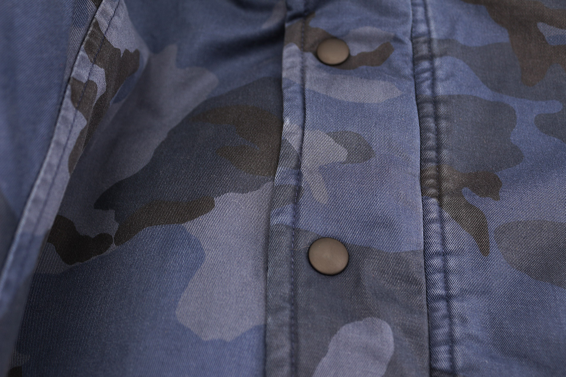 Hudson-Jeans-Blue-Camo-Army-Casual-Full-Zip-amp-Snap-Button-Front-Bomber-Jacket thumbnail 5