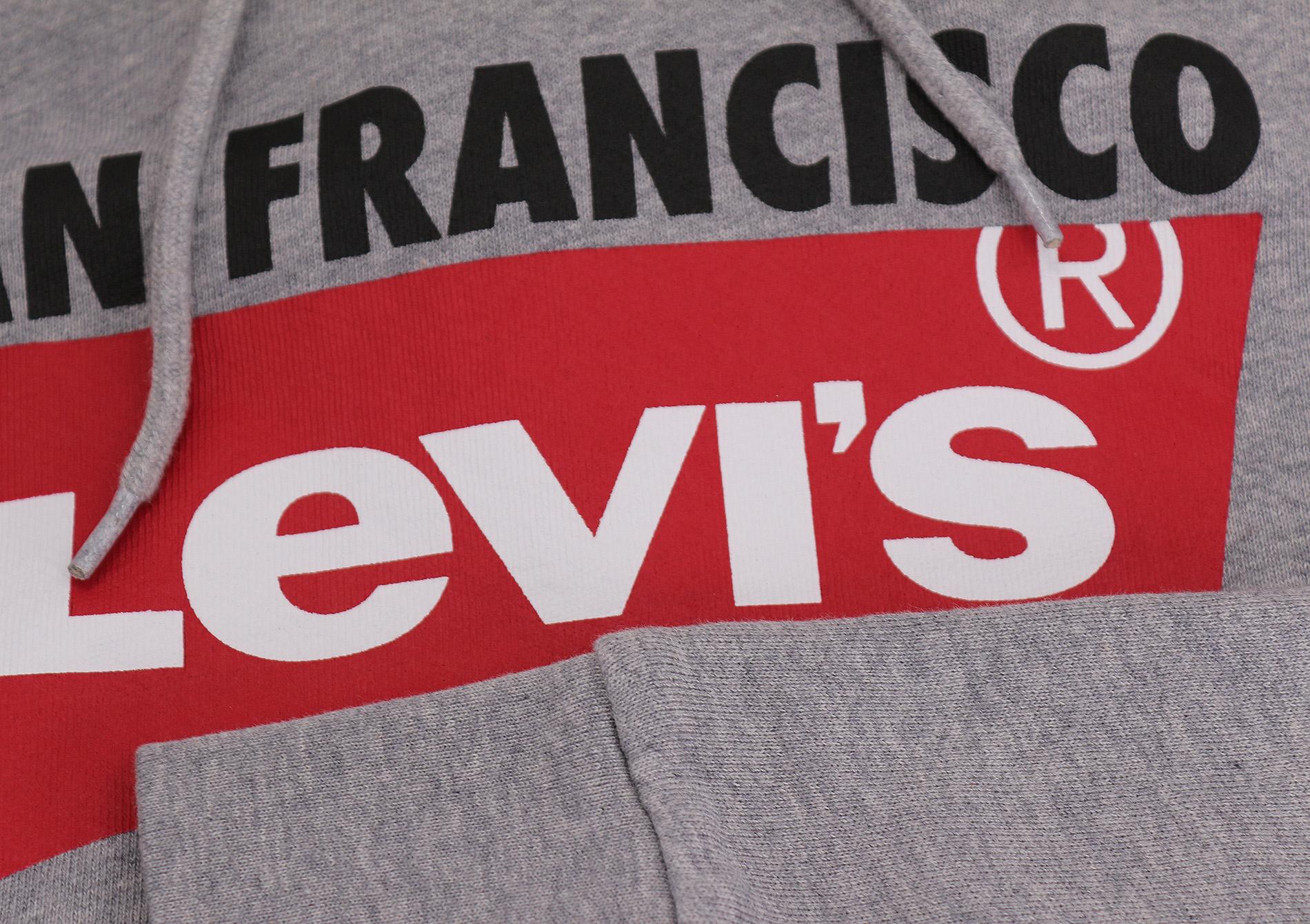 Indexbild 4 - Levi's Herren Pullover Logo Graphic Hoodie San Francisco Red Tab Baumwolle Pullover