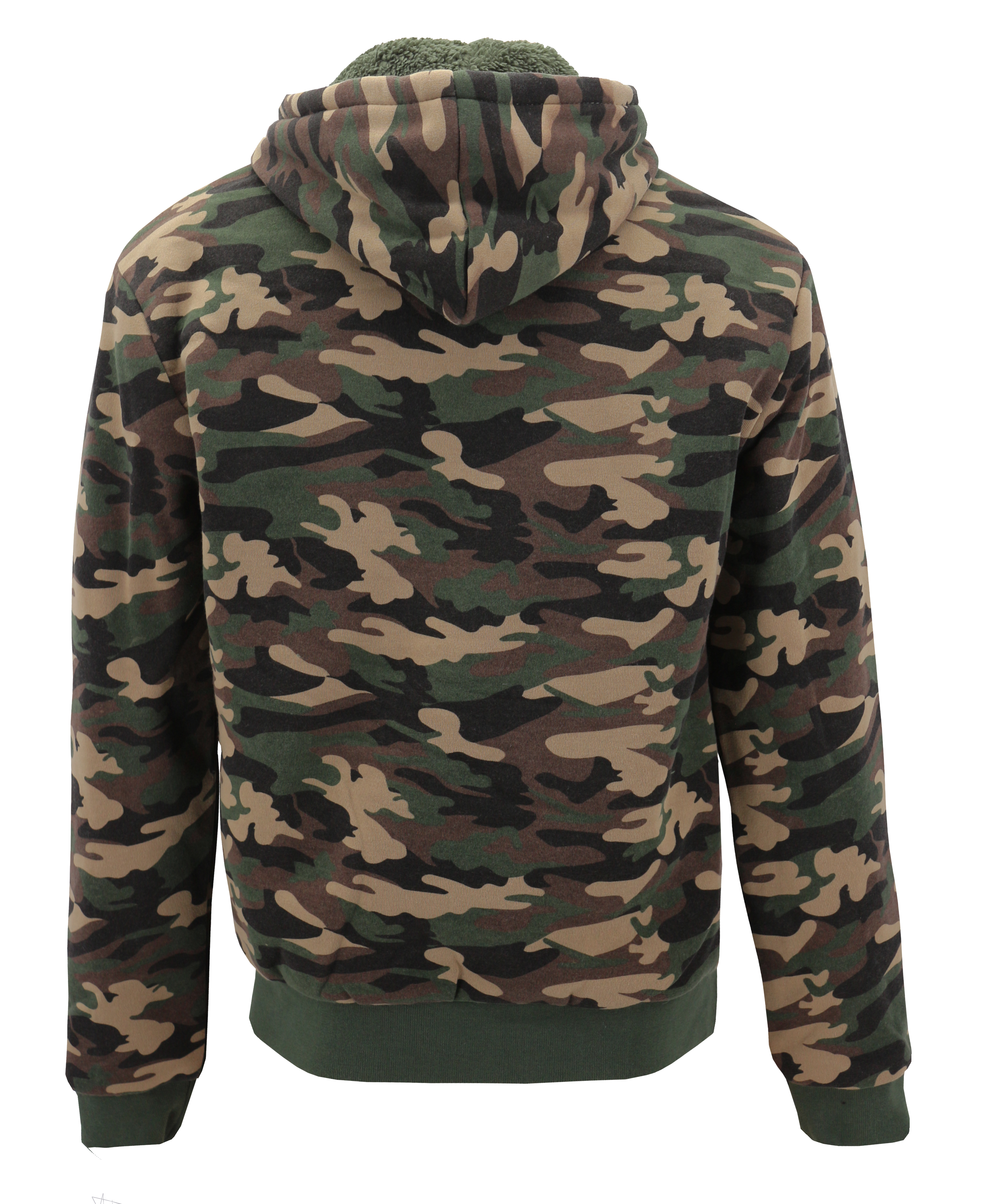 miniature 3 - Men-039-s-Camo-Sherpa-Hoodie-Zip-Up-Athletic-Army-Fleece-Hunting-Sweater-Jacket