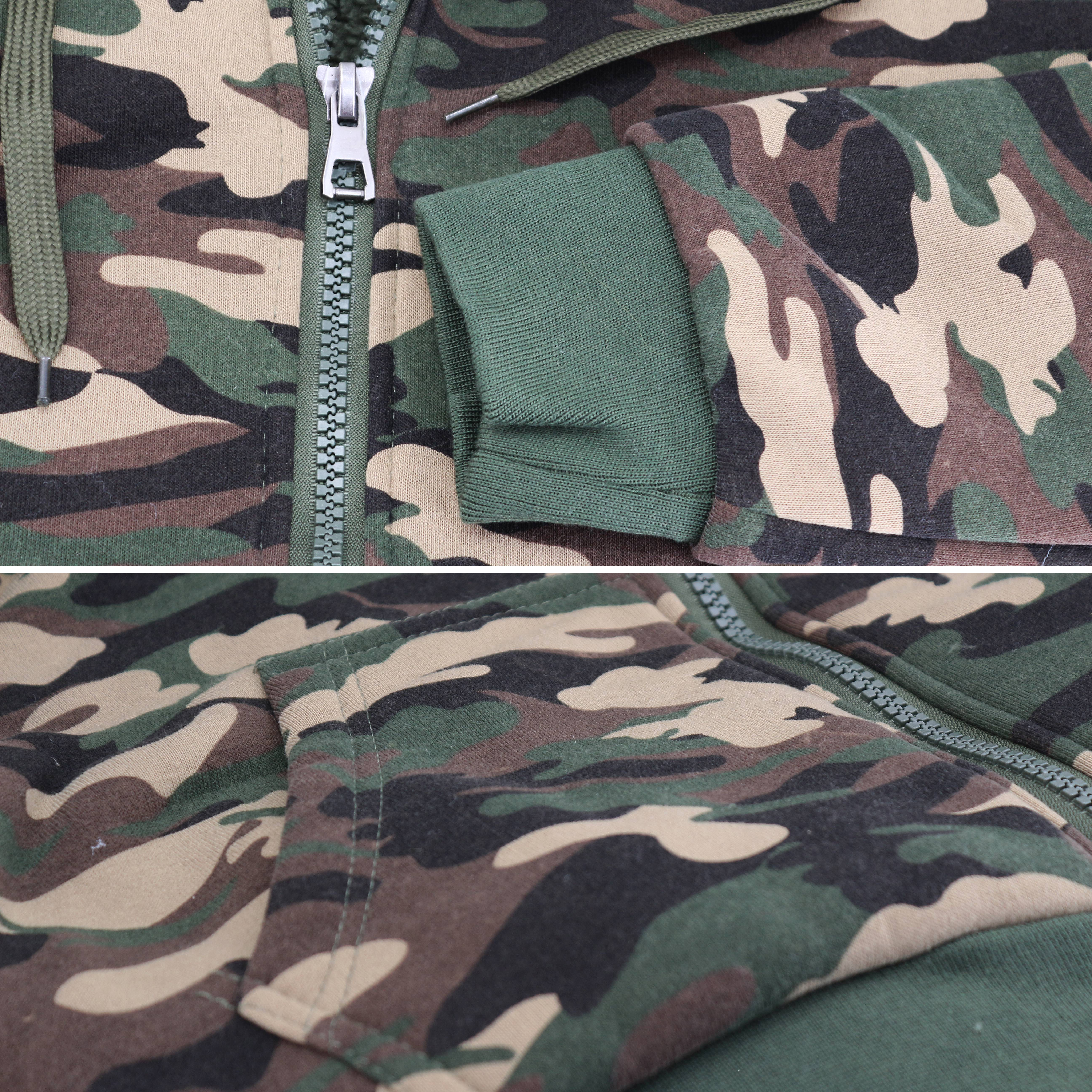miniature 4 - Men-039-s-Camo-Sherpa-Hoodie-Zip-Up-Athletic-Army-Fleece-Hunting-Sweater-Jacket