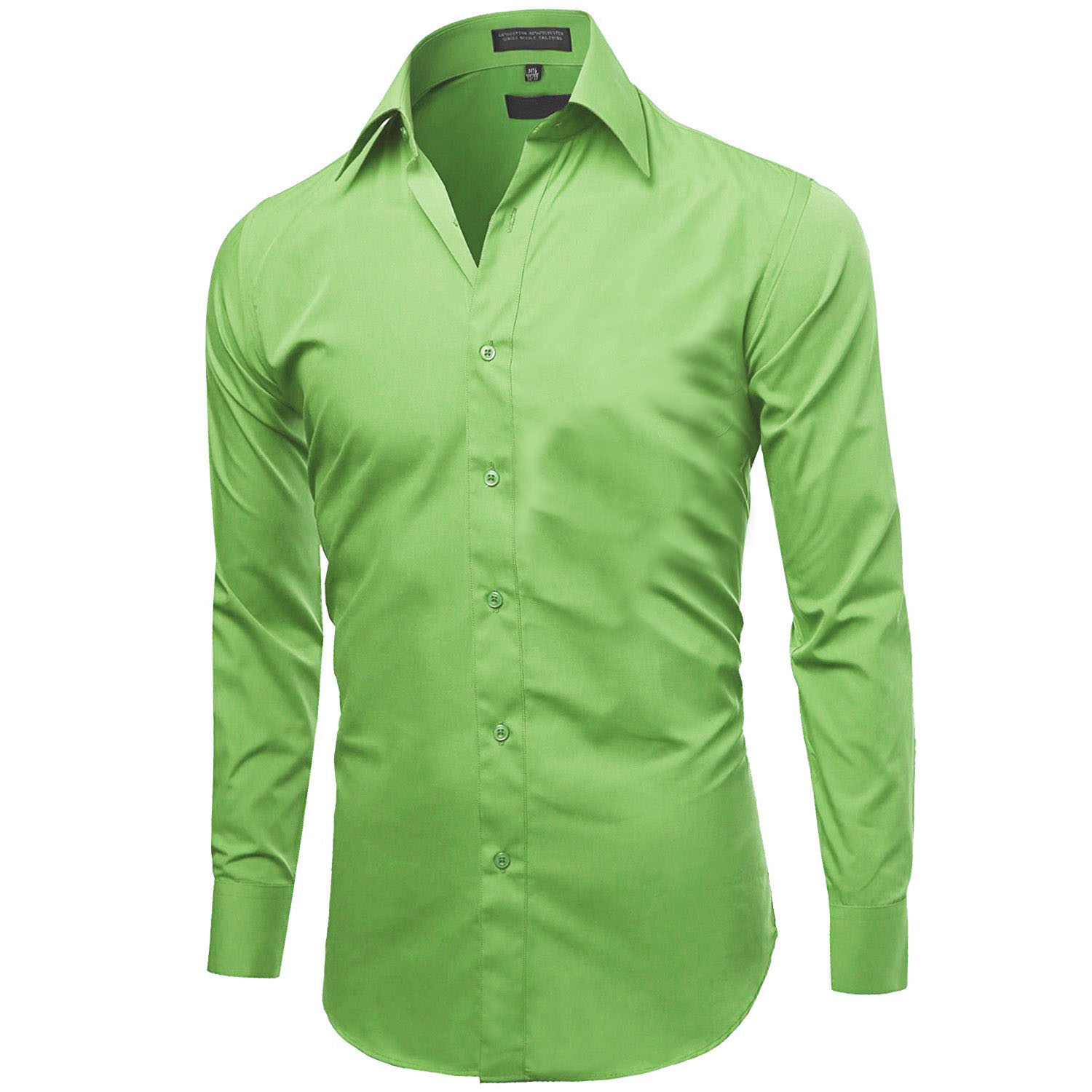 Omega-Italy-Men-039-s-Premium-Slim-Fit-Button-Up-Long-Sleeve-Solid-Color-Dress-Shirt thumbnail 3