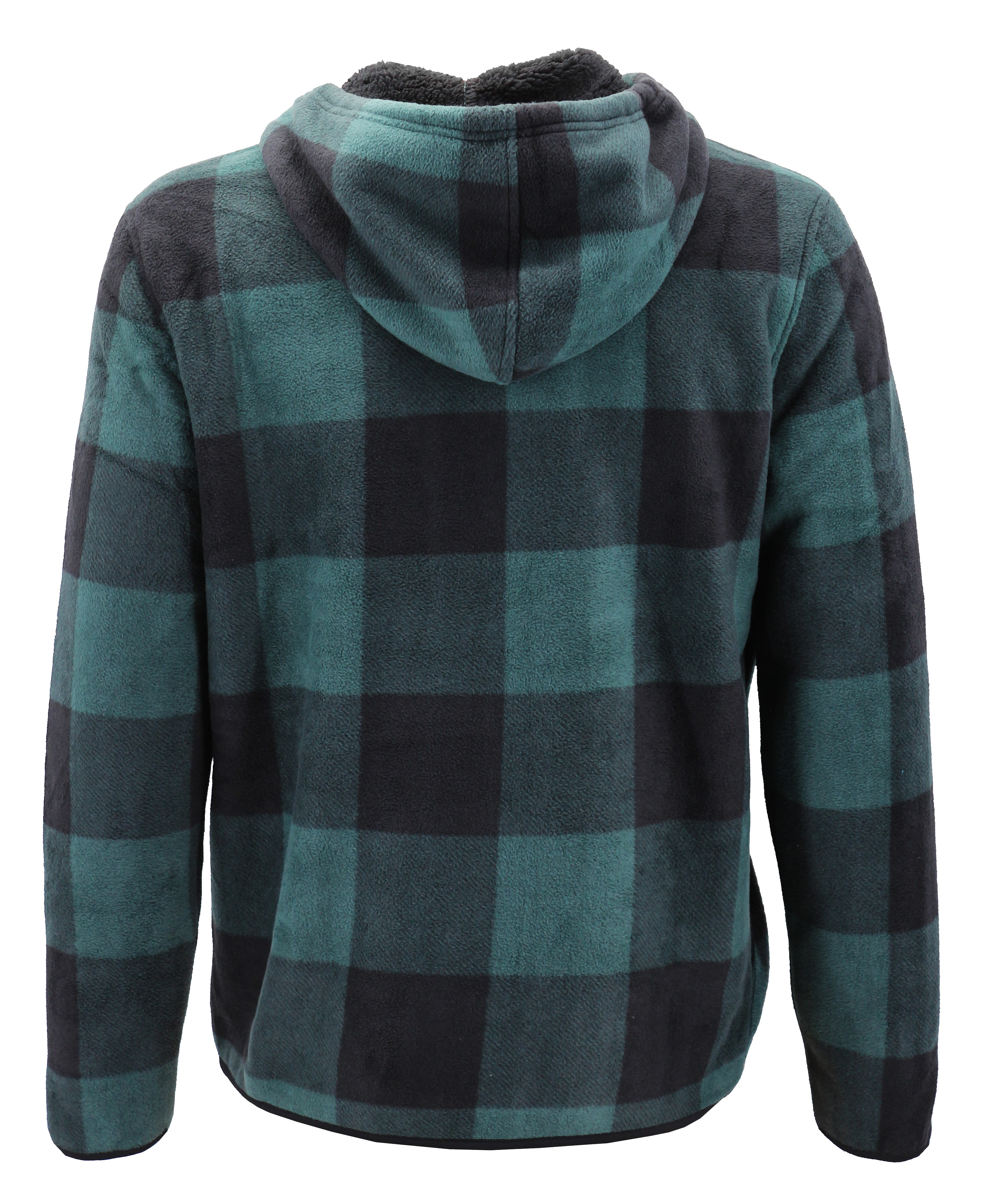 thumbnail 6 - Men-039-s-Casual-Flannel-Zip-Up-Fleece-Lined-Plaid-Sherpa-Hoodie-Lightweight-Jacket
