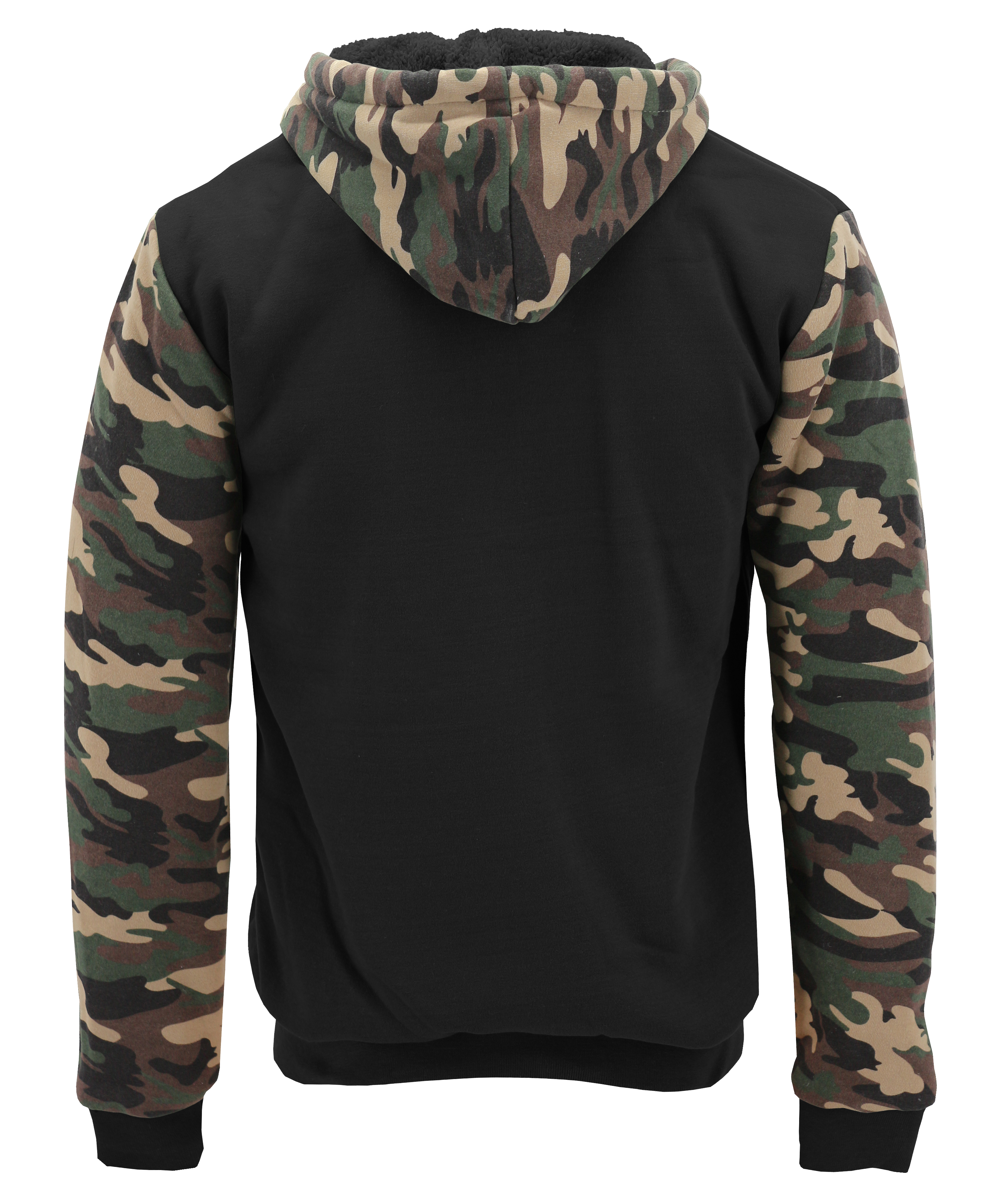 miniature 6 - Men-039-s-Camo-Sherpa-Hoodie-Zip-Up-Athletic-Army-Fleece-Hunting-Sweater-Jacket