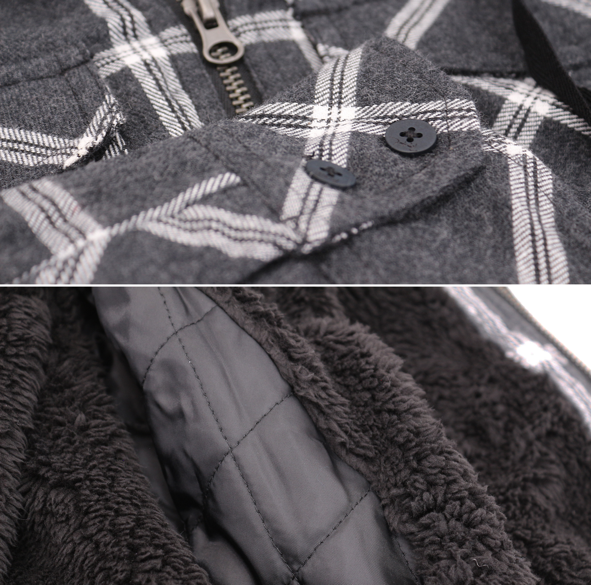 thumbnail 7 - Tony-Hawk-Men-039-s-Casual-Flannel-Zip-Up-Plaid-Sherpa-Hoodie-Lightweight-Jacket