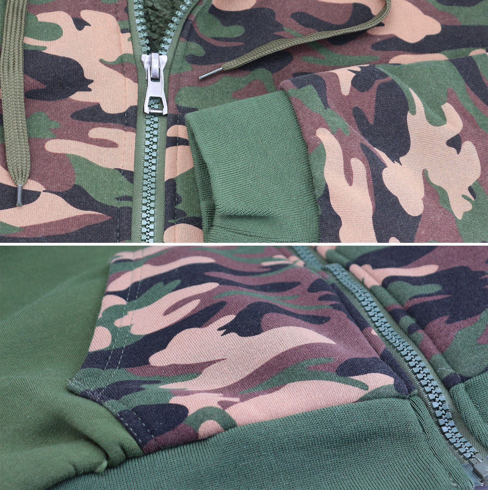 miniature 10 - Men-039-s-Camo-Sherpa-Hoodie-Zip-Up-Athletic-Army-Fleece-Hunting-Sweater-Jacket