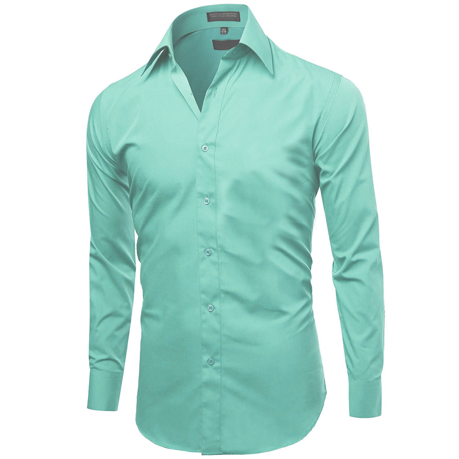 Omega-Italy-Men-039-s-Premium-Slim-Fit-Button-Up-Long-Sleeve-Solid-Color-Dress-Shirt thumbnail 8