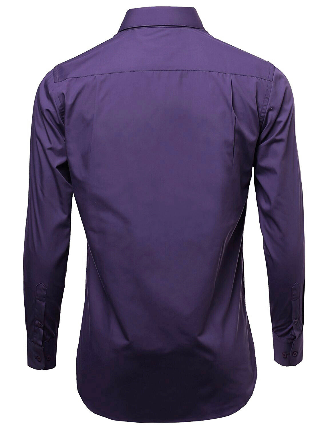 Omega-Italy-Men-039-s-Premium-Slim-Fit-Button-Up-Long-Sleeve-Solid-Color-Dress-Shirt thumbnail 54