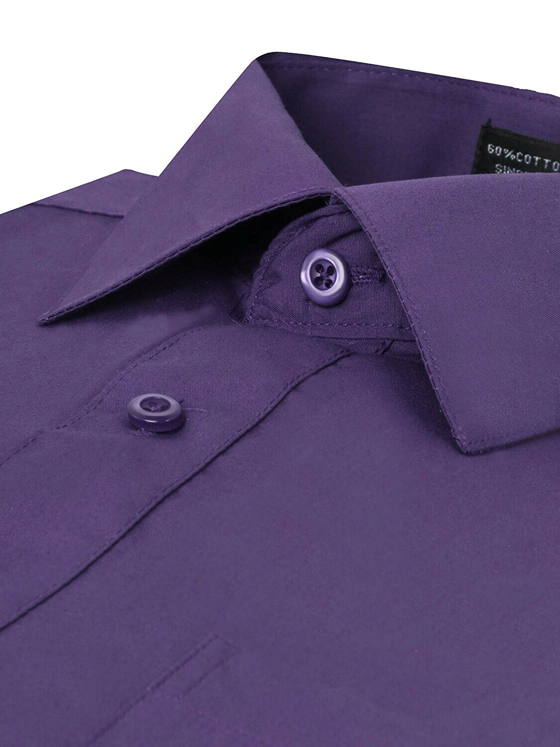 Omega-Italy-Men-039-s-Premium-Slim-Fit-Button-Up-Long-Sleeve-Solid-Color-Dress-Shirt thumbnail 55