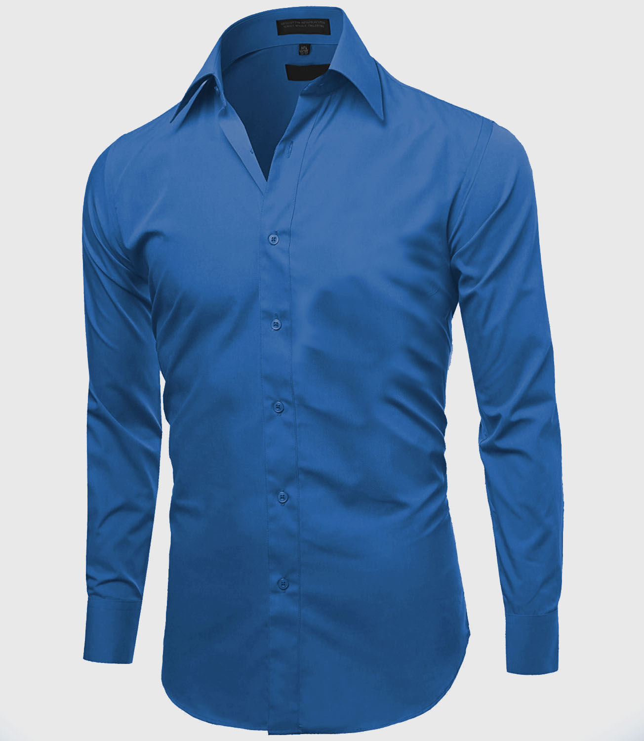 Omega-Italy-Men-039-s-Premium-Slim-Fit-Button-Up-Long-Sleeve-Solid-Color-Dress-Shirt thumbnail 58