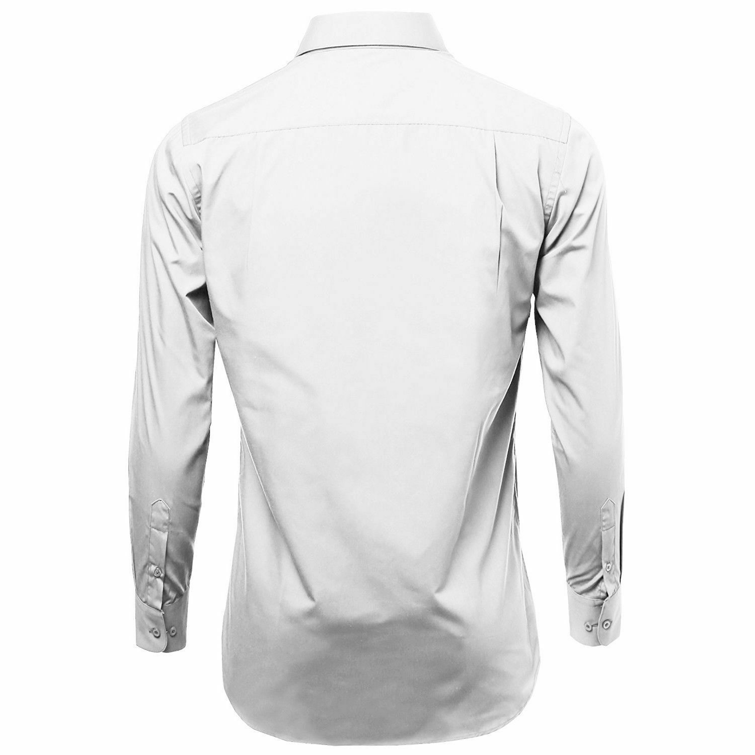 Omega-Italy-Men-039-s-Premium-Slim-Fit-Button-Up-Long-Sleeve-Solid-Color-Dress-Shirt thumbnail 49
