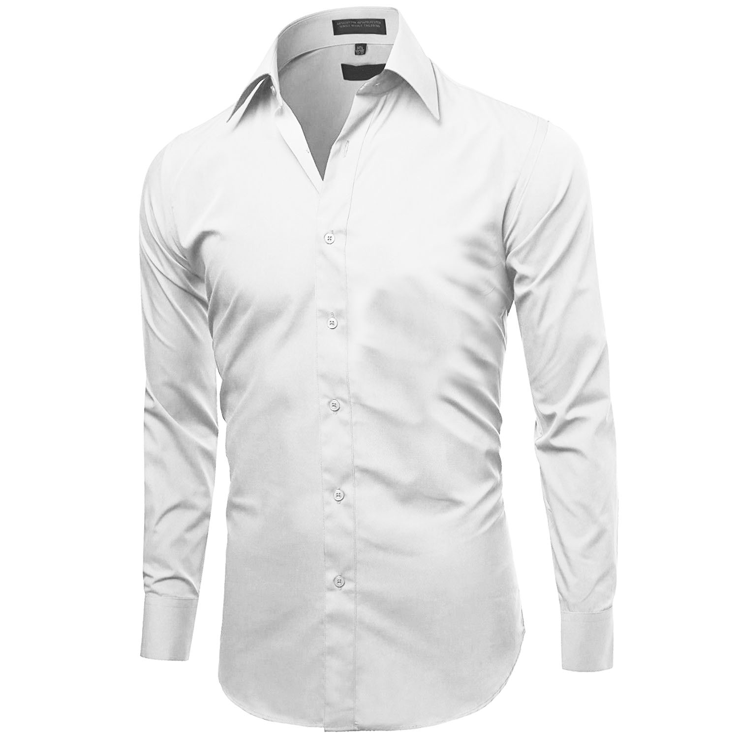 Omega-Italy-Men-039-s-Premium-Slim-Fit-Button-Up-Long-Sleeve-Solid-Color-Dress-Shirt thumbnail 48