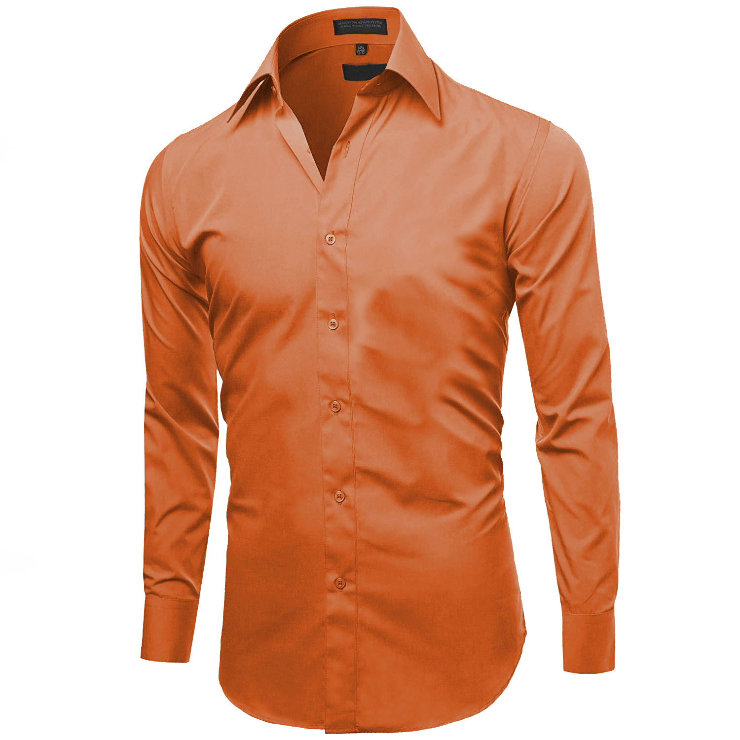 Omega-Italy-Men-039-s-Premium-Slim-Fit-Button-Up-Long-Sleeve-Solid-Color-Dress-Shirt thumbnail 93