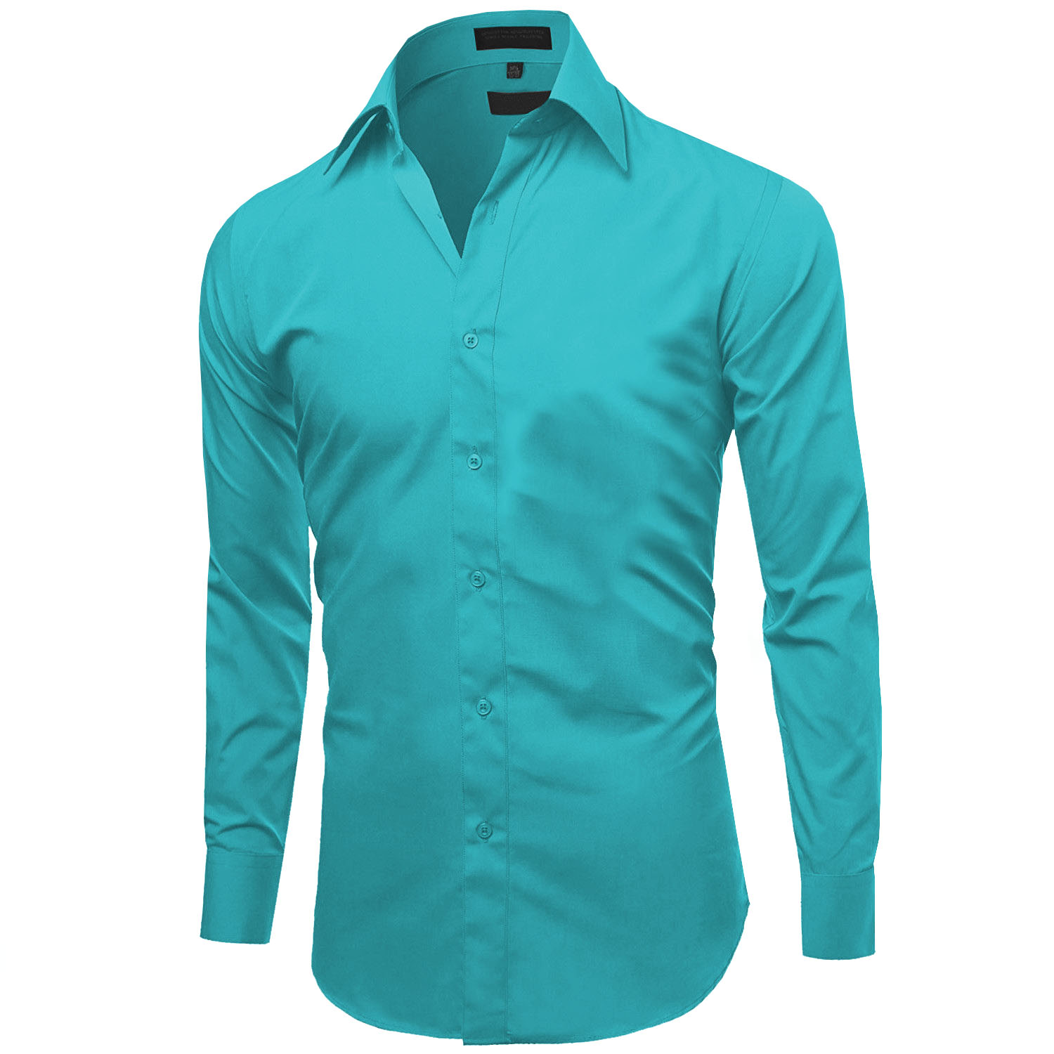 Omega-Italy-Men-039-s-Premium-Slim-Fit-Button-Up-Long-Sleeve-Solid-Color-Dress-Shirt thumbnail 53
