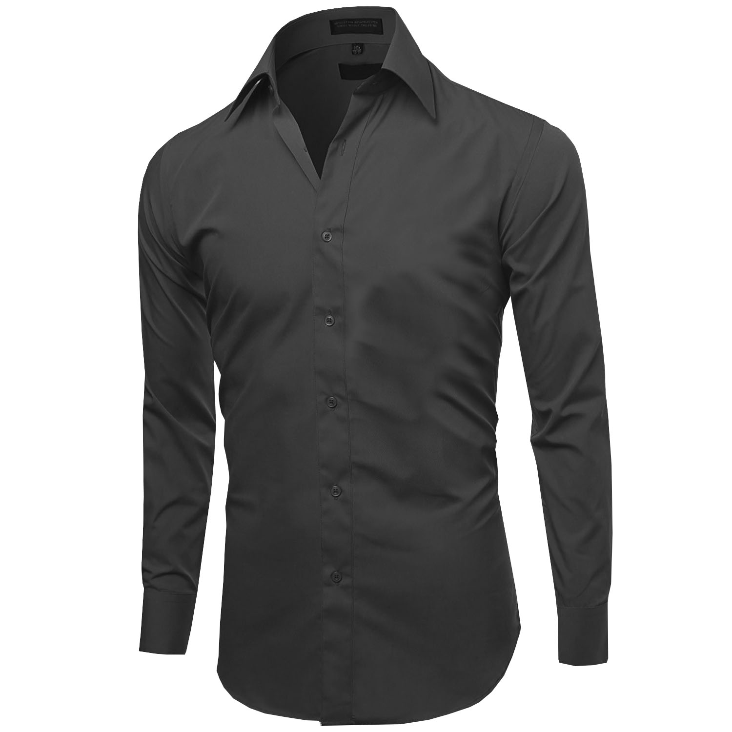 Omega-Italy-Men-039-s-Premium-Slim-Fit-Button-Up-Long-Sleeve-Solid-Color-Dress-Shirt thumbnail 13