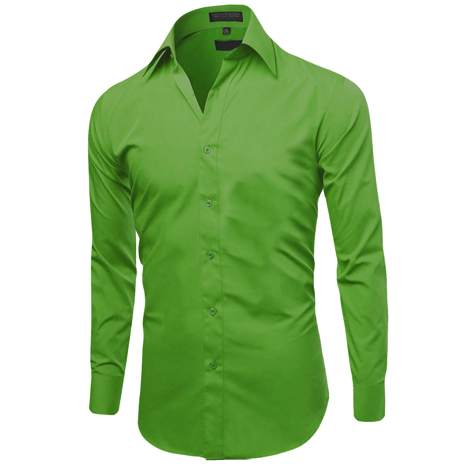 Omega-Italy-Men-039-s-Premium-Slim-Fit-Button-Up-Long-Sleeve-Solid-Color-Dress-Shirt thumbnail 98