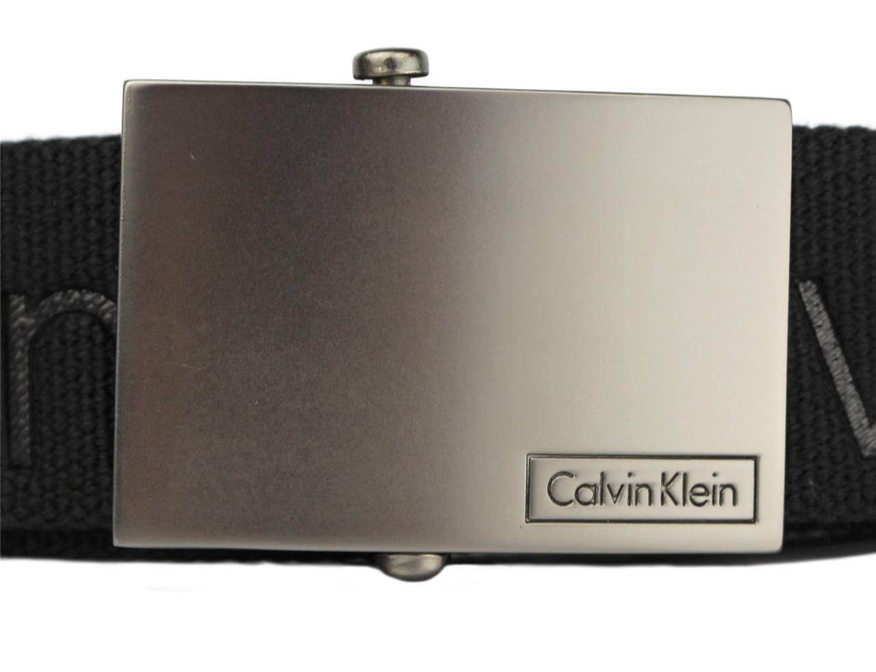 New-Calvin-Klein-Men-039-s-Premium-CK-Logo-Cotton-Adjustable-38mm-Canvas-Belt-73545 thumbnail 3