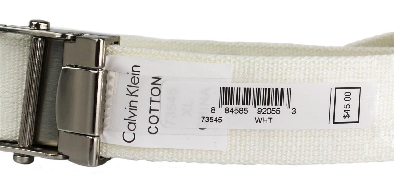 New-Calvin-Klein-Men-039-s-Premium-CK-Logo-Cotton-Adjustable-38mm-Canvas-Belt-73545 thumbnail 9