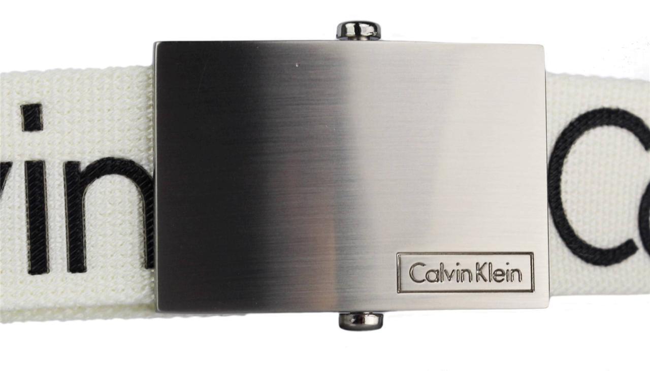 New-Calvin-Klein-Men-039-s-Premium-CK-Logo-Cotton-Adjustable-38mm-Canvas-Belt-73545 thumbnail 7