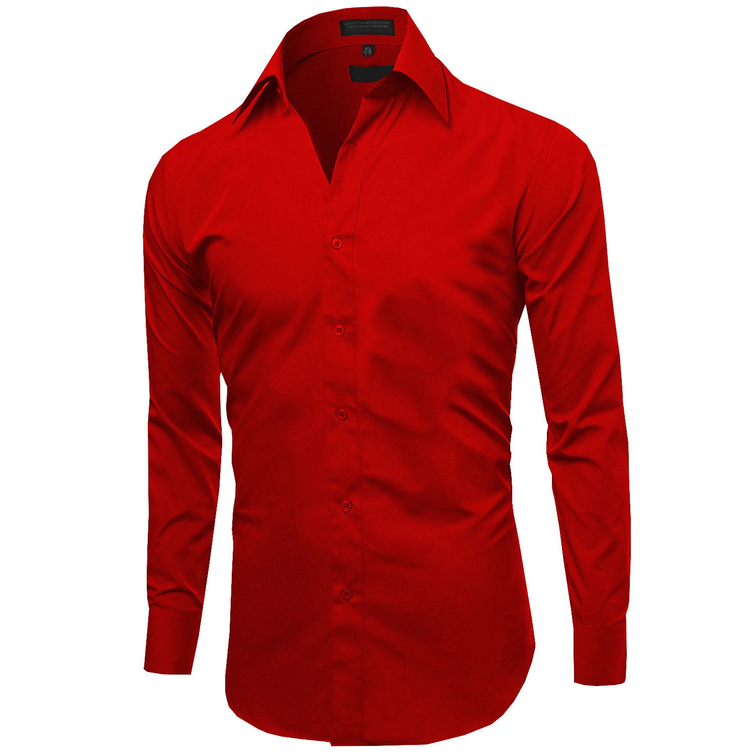 Omega-Italy-Men-039-s-Premium-Slim-Fit-Button-Up-Long-Sleeve-Solid-Color-Dress-Shirt thumbnail 103