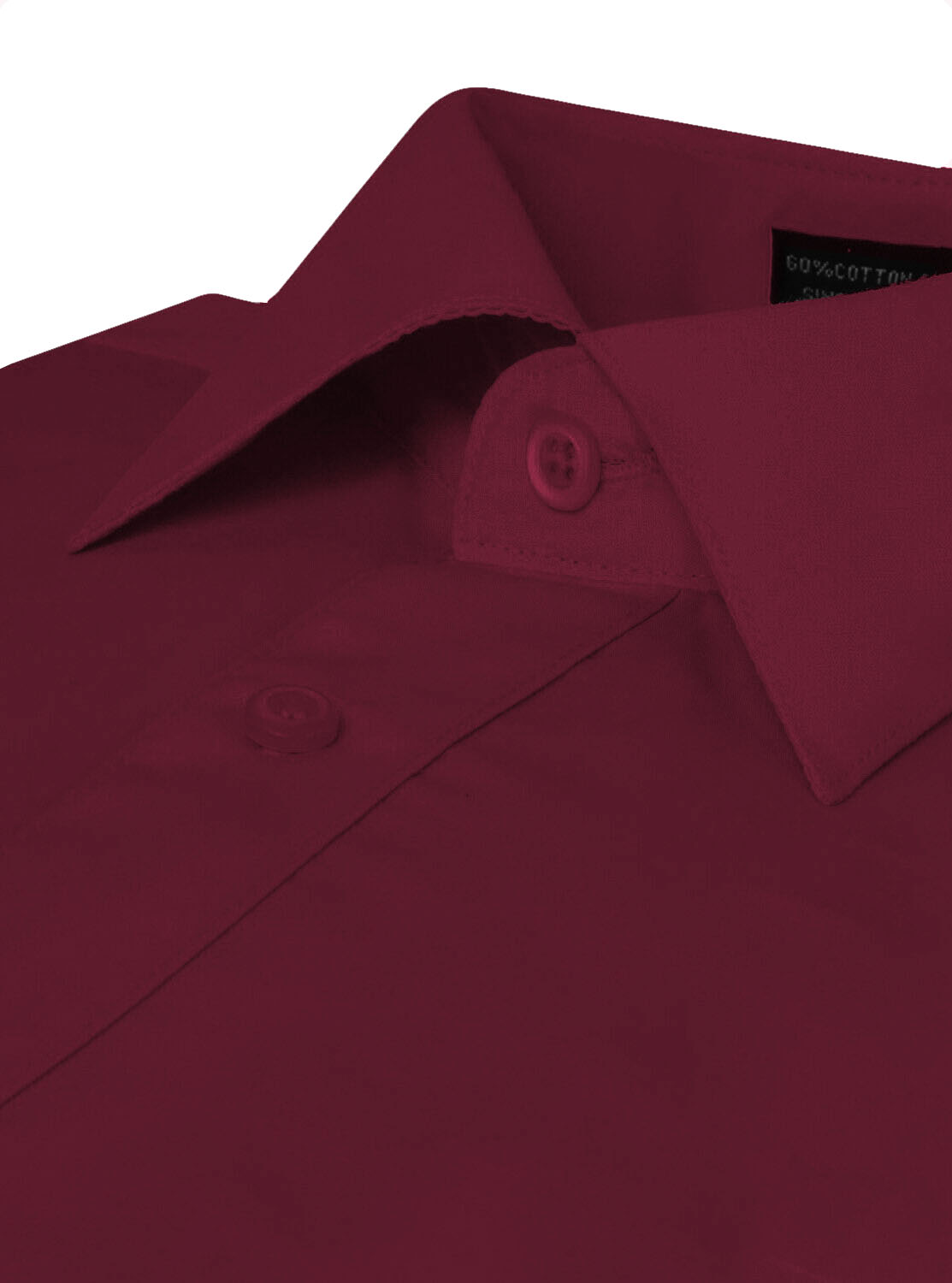 Omega-Italy-Men-039-s-Premium-Slim-Fit-Button-Up-Long-Sleeve-Solid-Color-Dress-Shirt thumbnail 70