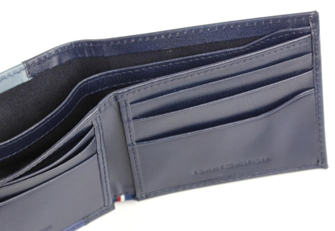 Tommy Hilfiger Men/'s Premium Leather Credit Card ID Wallet Passcase 31TL130013
