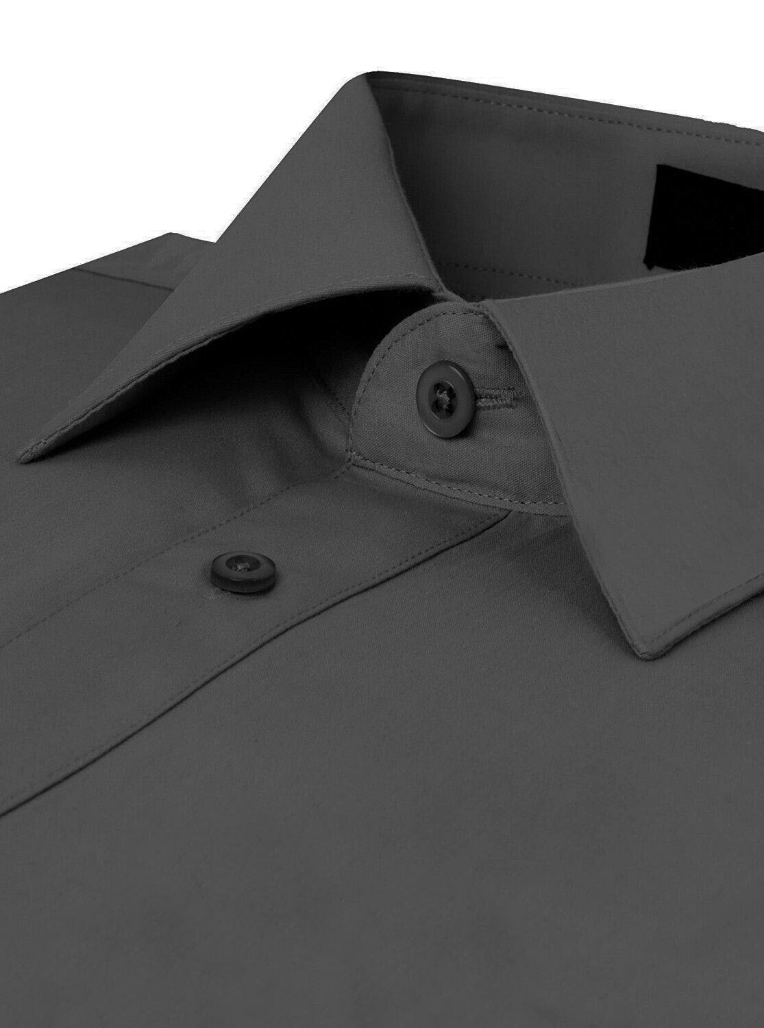 Omega-Italy-Men-039-s-Premium-Slim-Fit-Button-Up-Long-Sleeve-Solid-Color-Dress-Shirt thumbnail 20