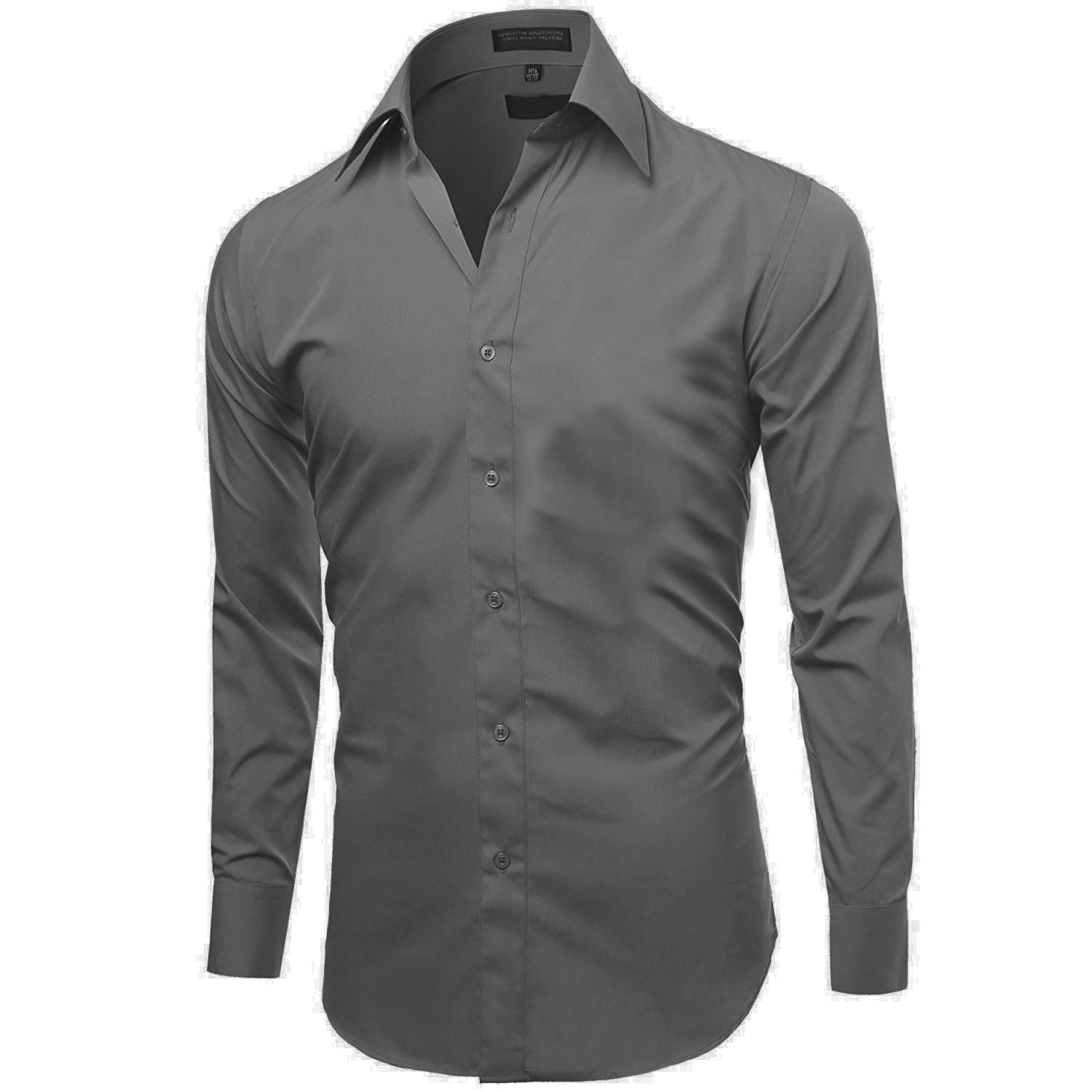 Omega-Italy-Men-039-s-Premium-Slim-Fit-Button-Up-Long-Sleeve-Solid-Color-Dress-Shirt thumbnail 18