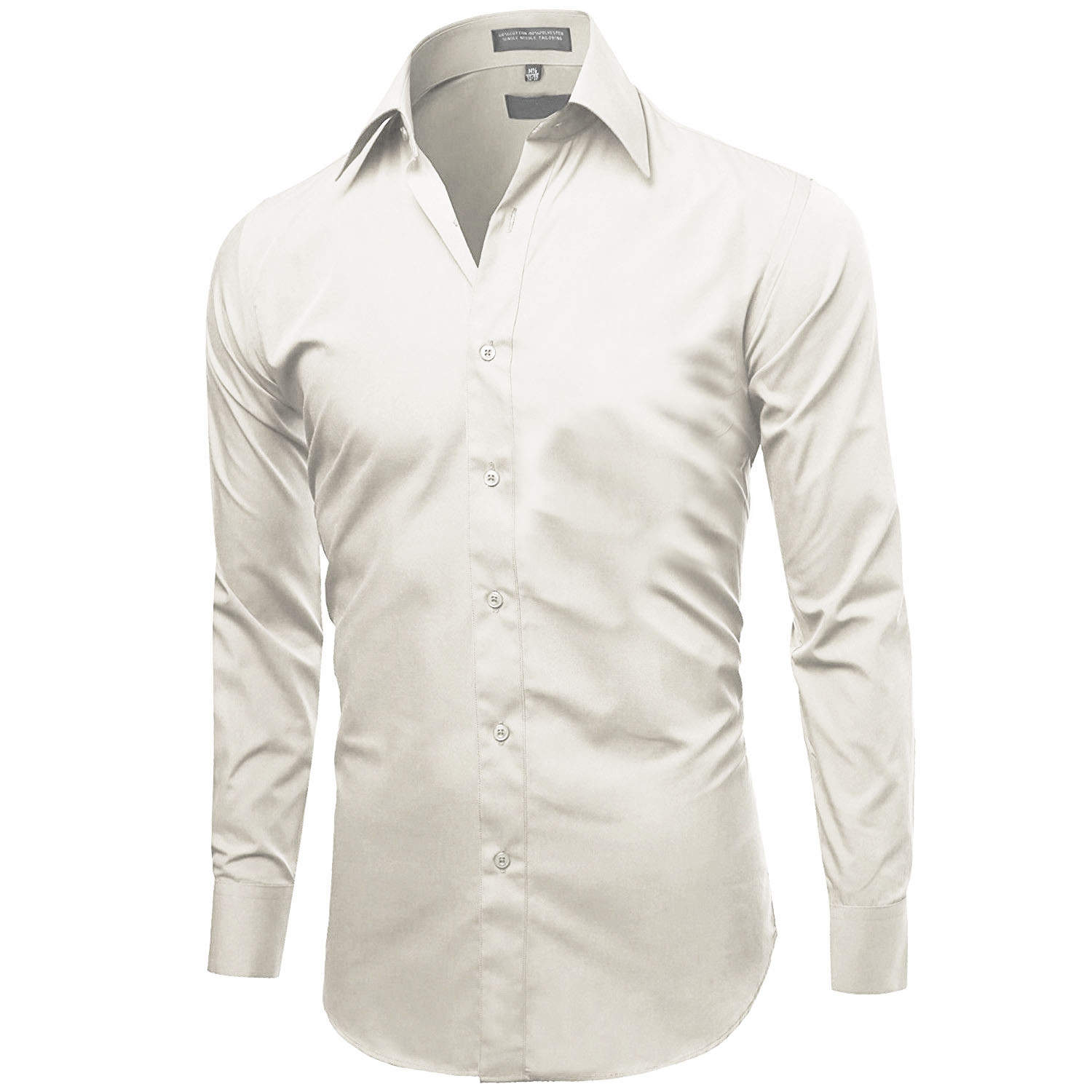 Omega-Italy-Men-039-s-Premium-Slim-Fit-Button-Up-Long-Sleeve-Solid-Color-Dress-Shirt thumbnail 33