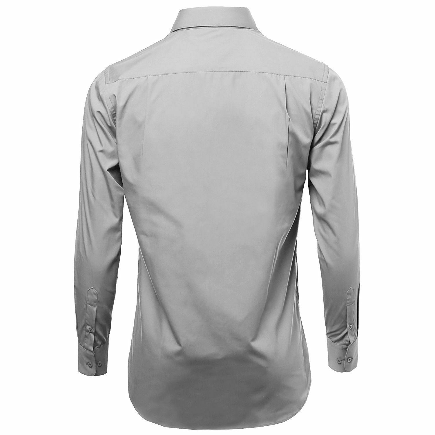 Omega-Italy-Men-039-s-Premium-Slim-Fit-Button-Up-Long-Sleeve-Solid-Color-Dress-Shirt thumbnail 44