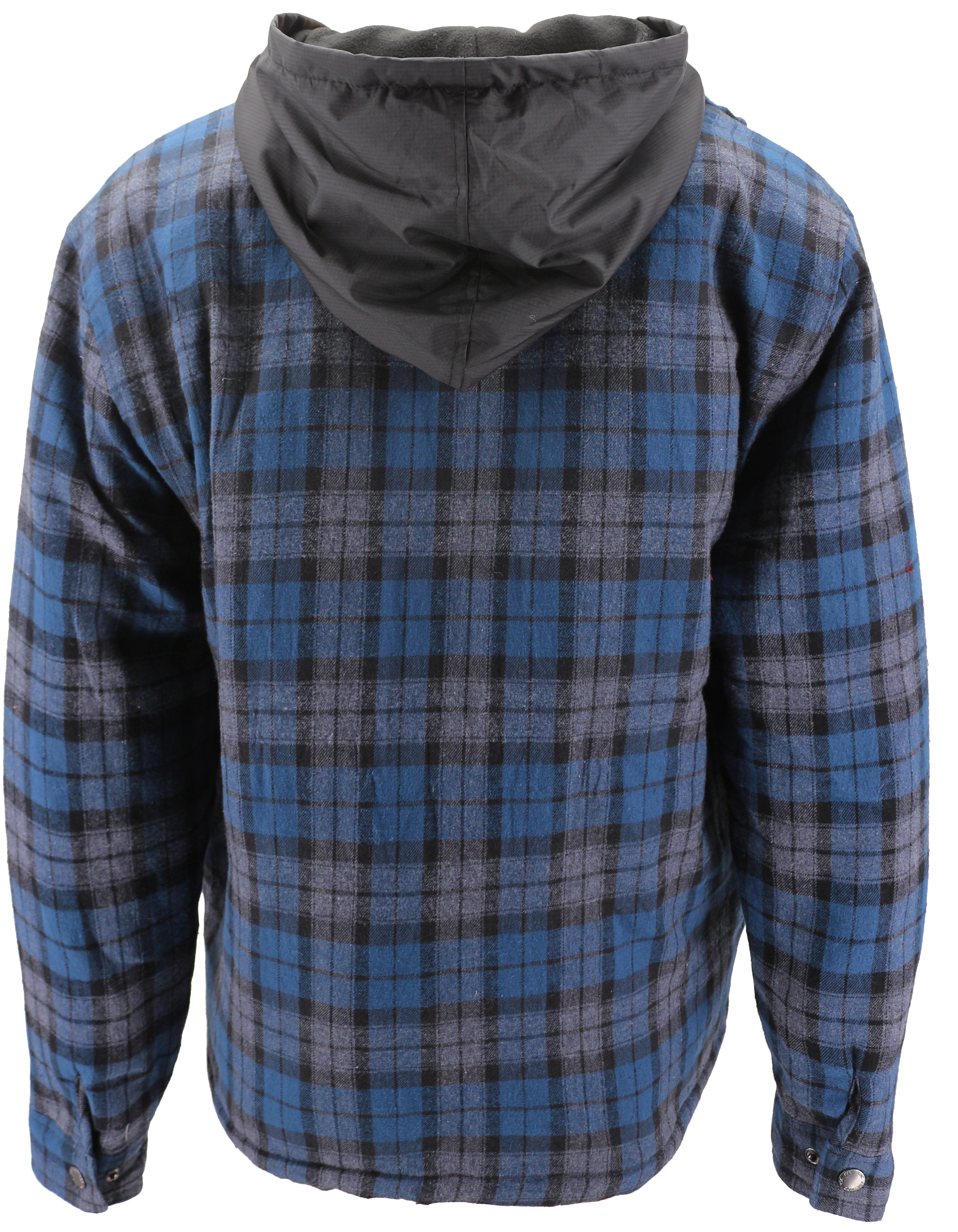 vkwear-Men-039-s-Quilted-Lined-Cotton-Plaid-Flannel-Layered-Zip-Up-Hoodie-Jacket thumbnail 4