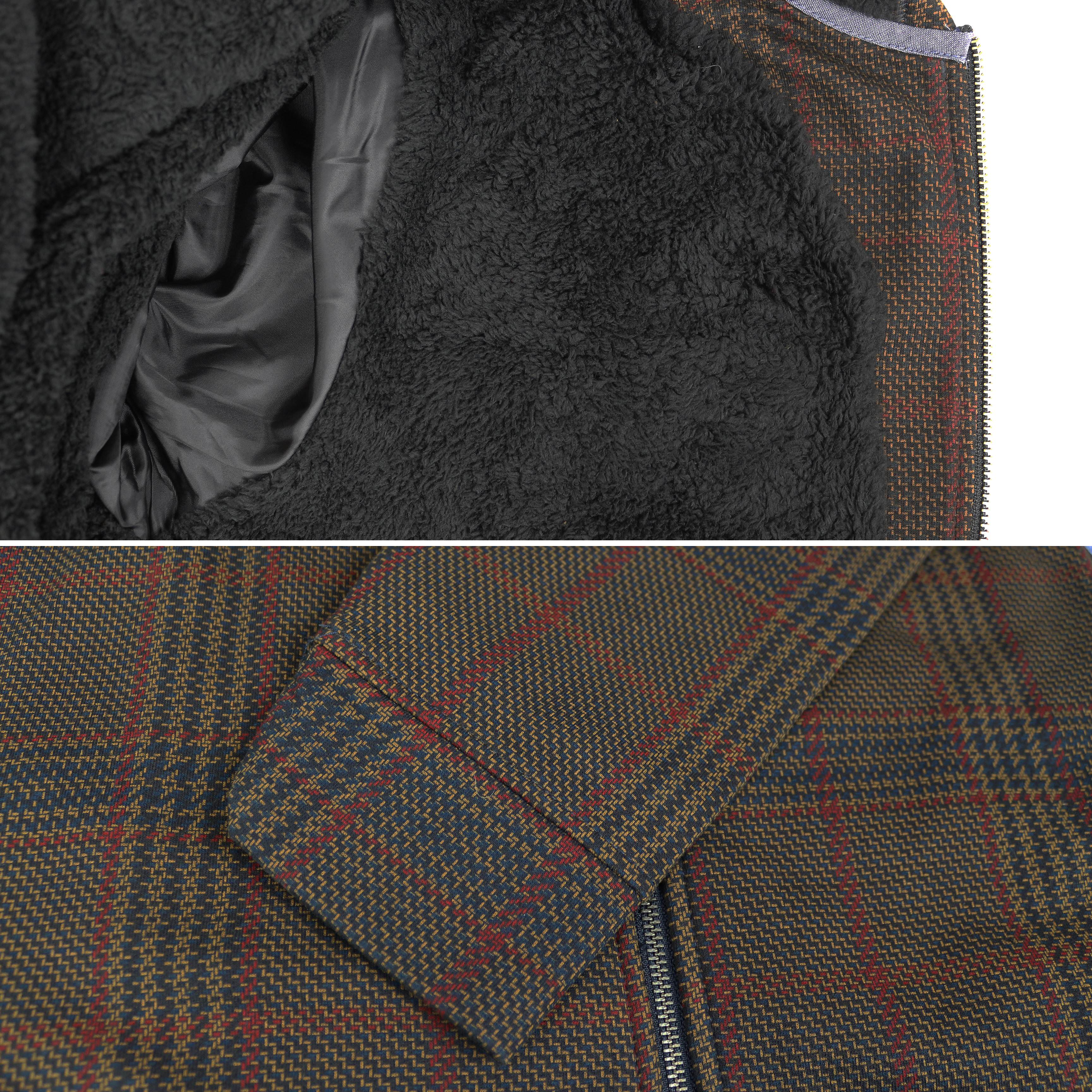 Levi-039-s-Men-039-s-Soft-Sherpa-Lined-Long-Sleeve-Flannel-Zip-Up-Hoodie-Sweater-Jacket thumbnail 3